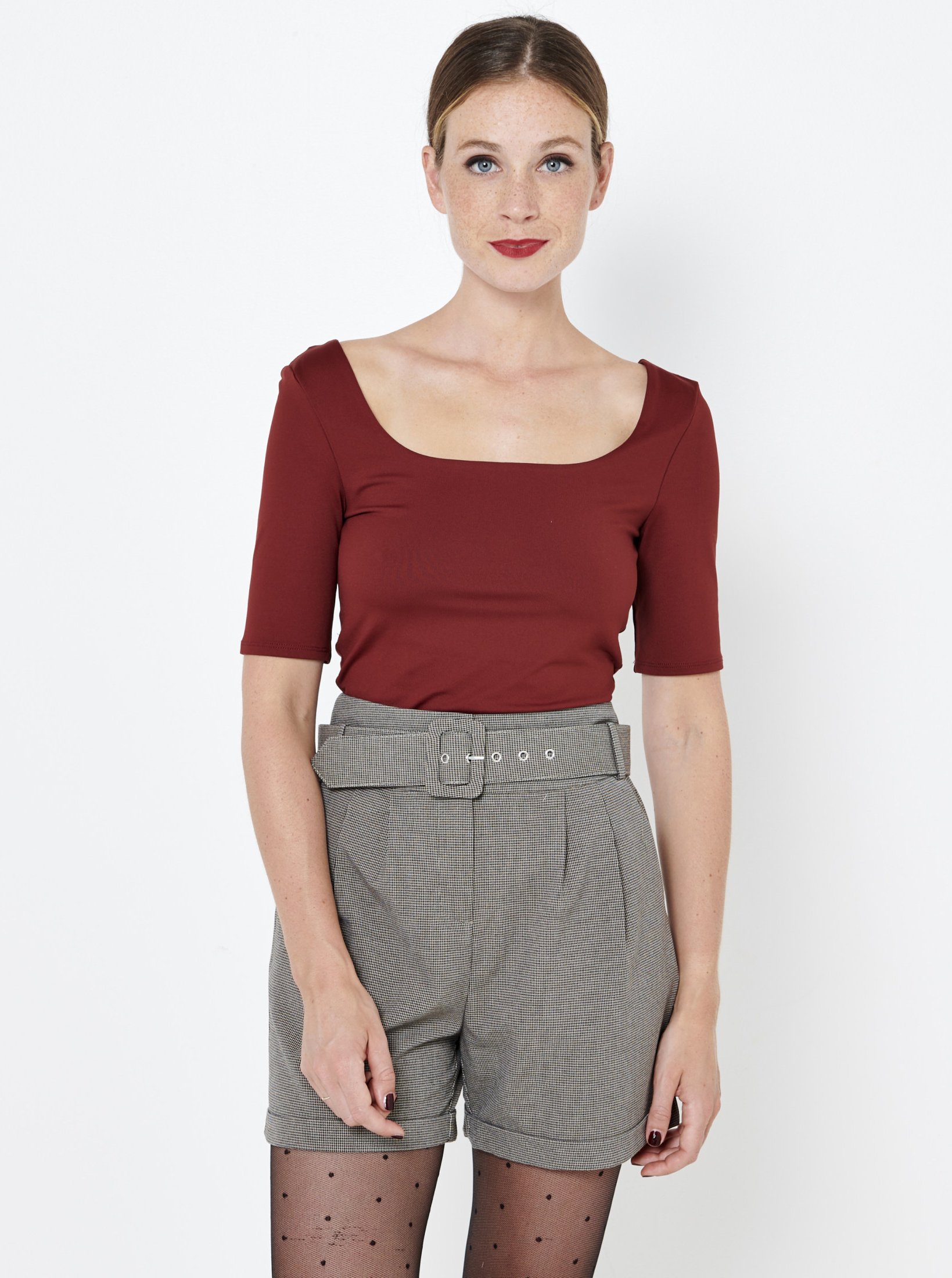 CAMAIEU кафява женски риза