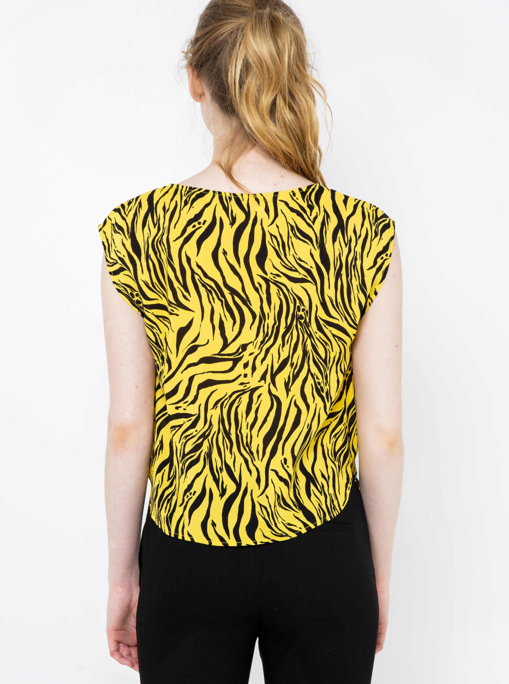 CAMAIEU жълта блуза с шарка