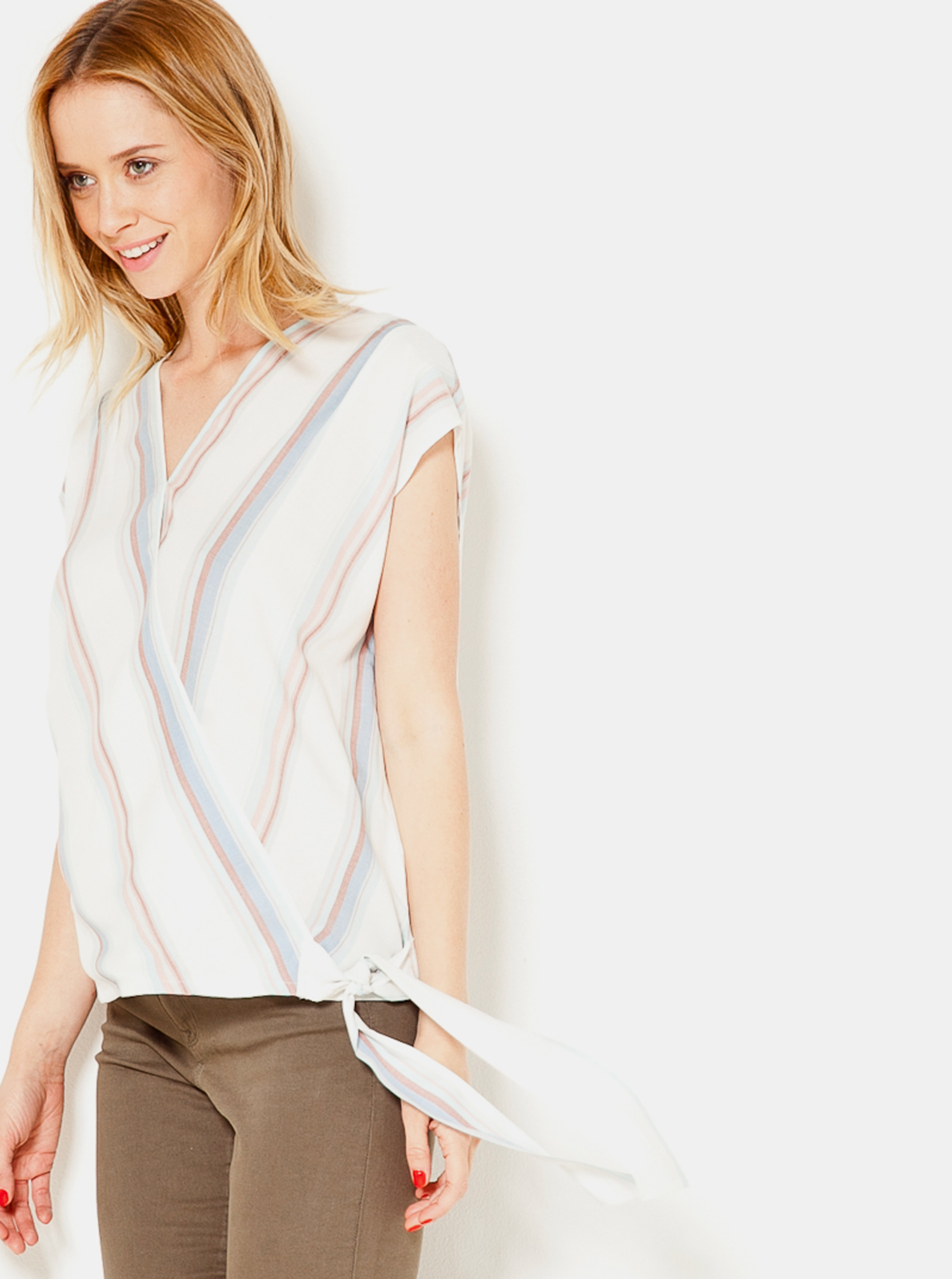 CAMAIEU Дамска блуза бял