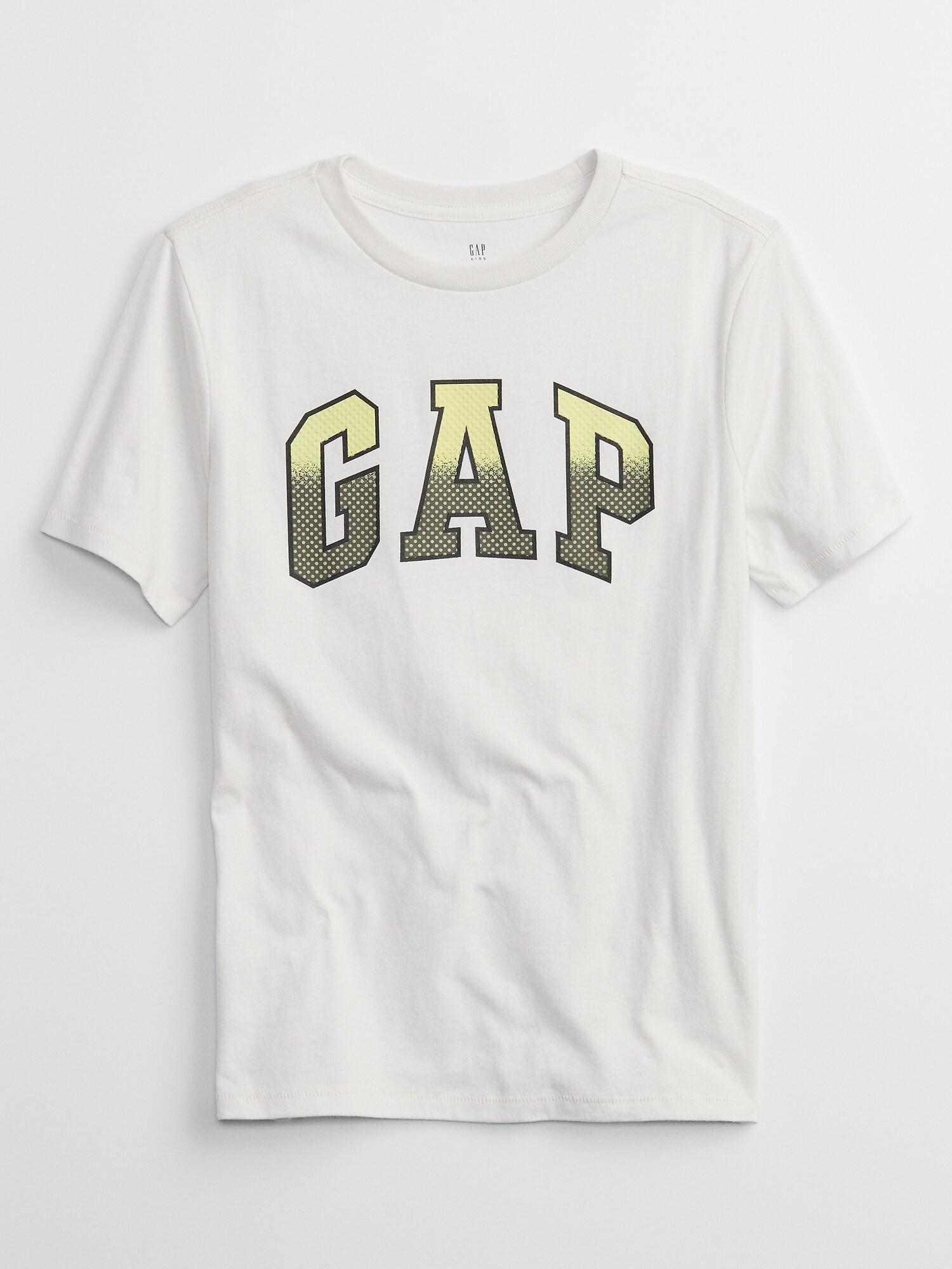 GAP Детска тениска за момче бял