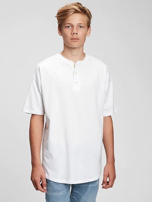 GAP TW SS Henley Тениска детска Byal
