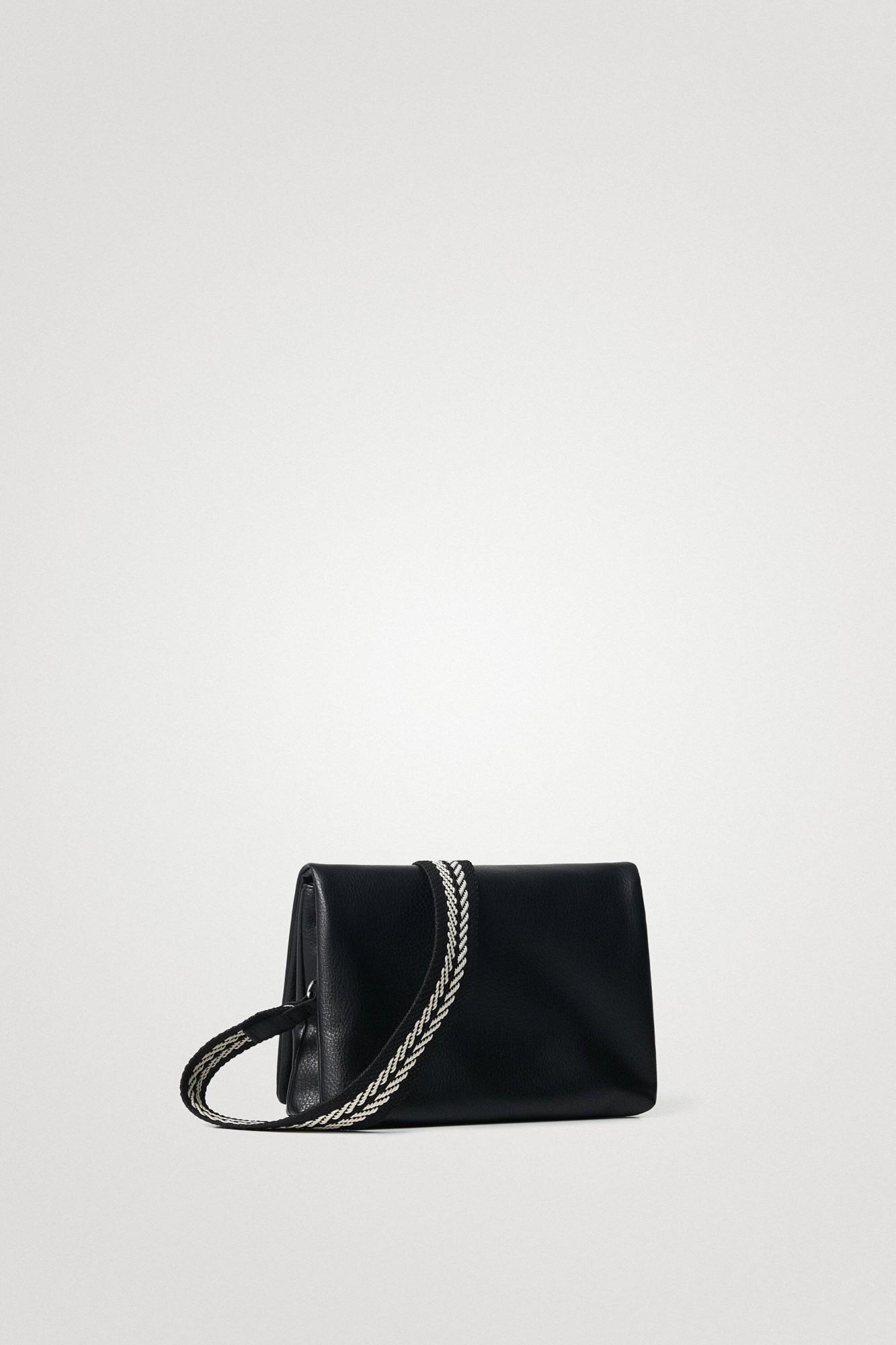 Desigual черна crossbody дамска чанта Mickey Dortmund Flap