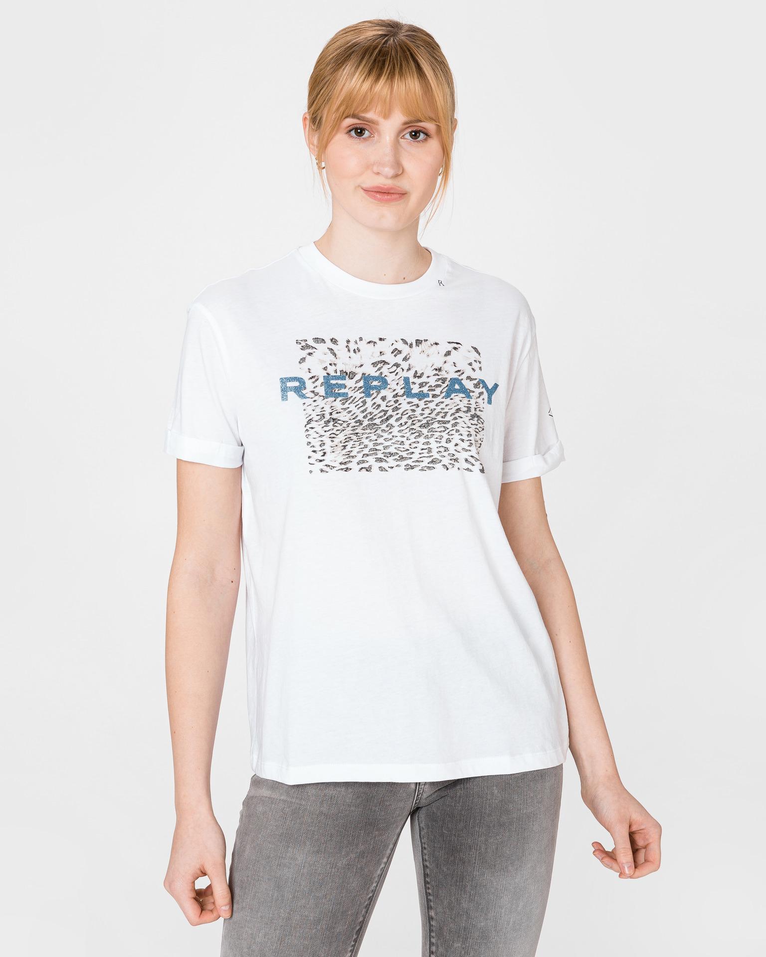 Replay Дамска тениска бял