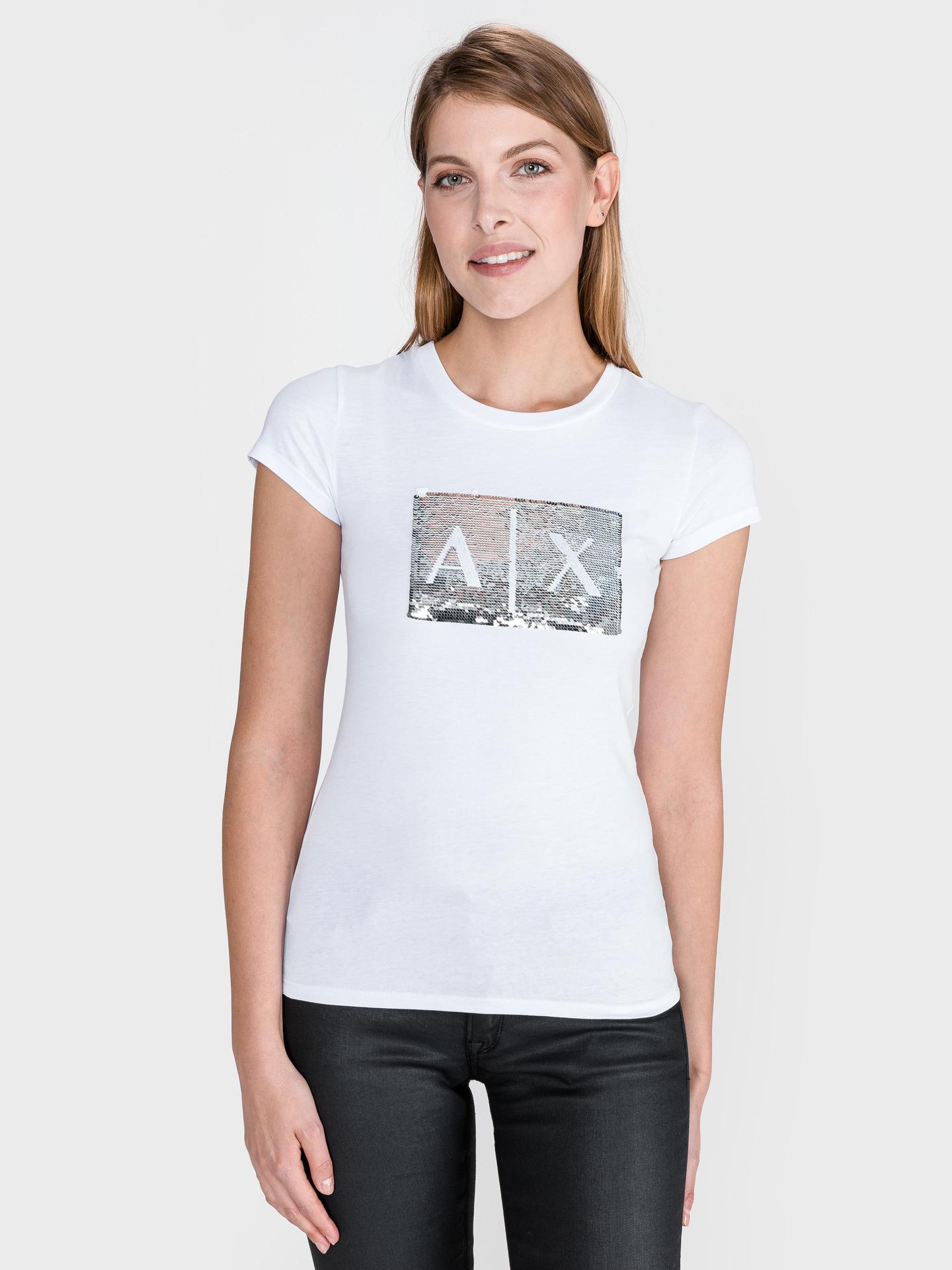 Armani Exchange бяла женски риза