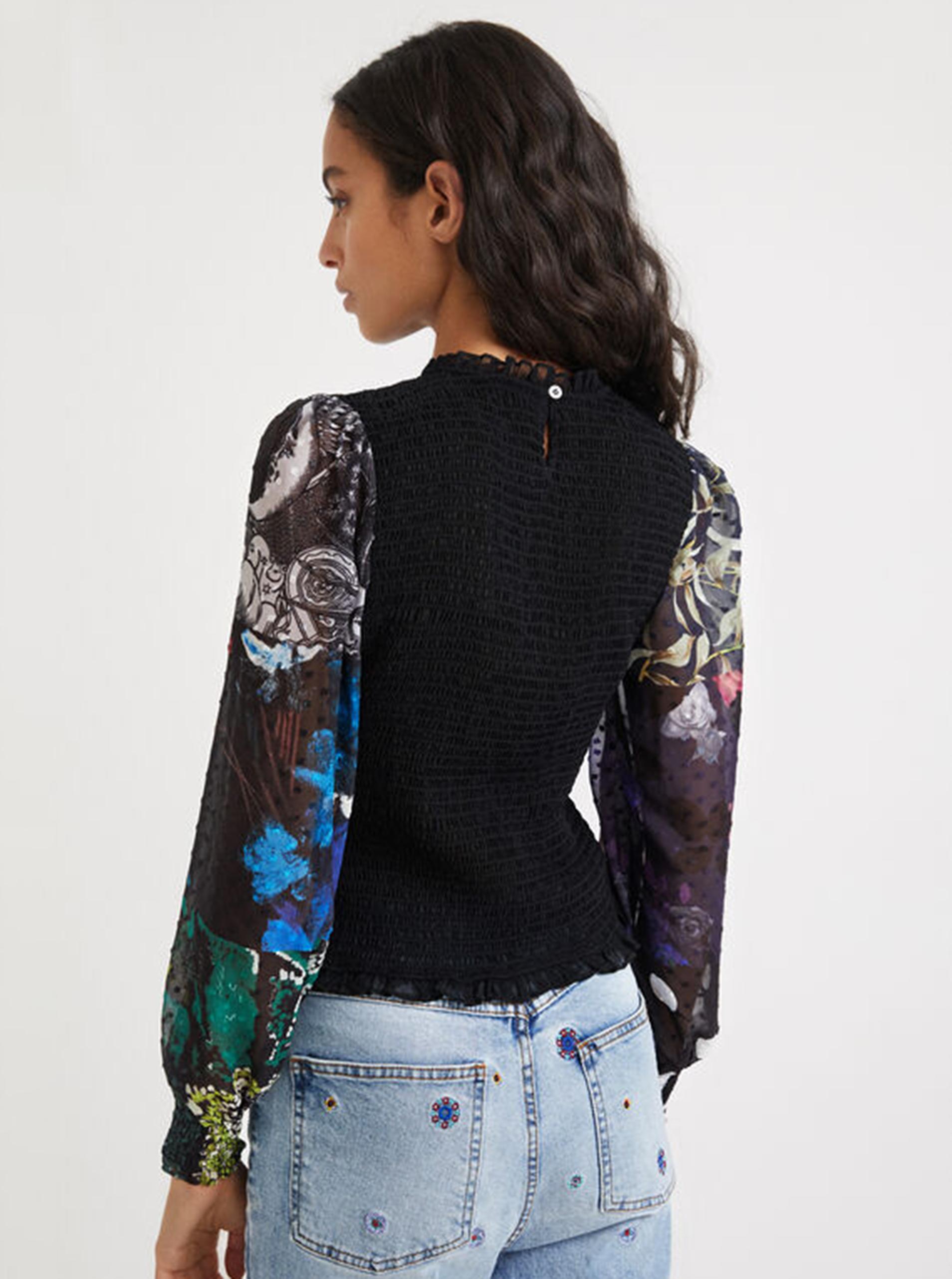 Desigual черна блуза Hamburgo