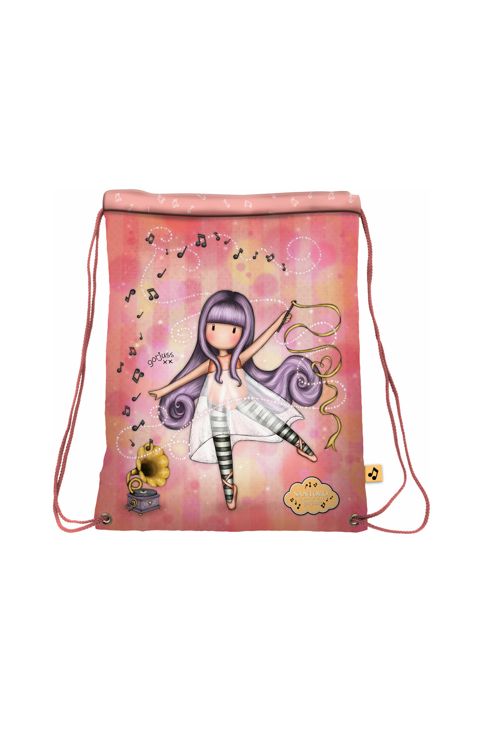 Santoro сьомгова тип мешка чанта Gorjuss Little Dancer