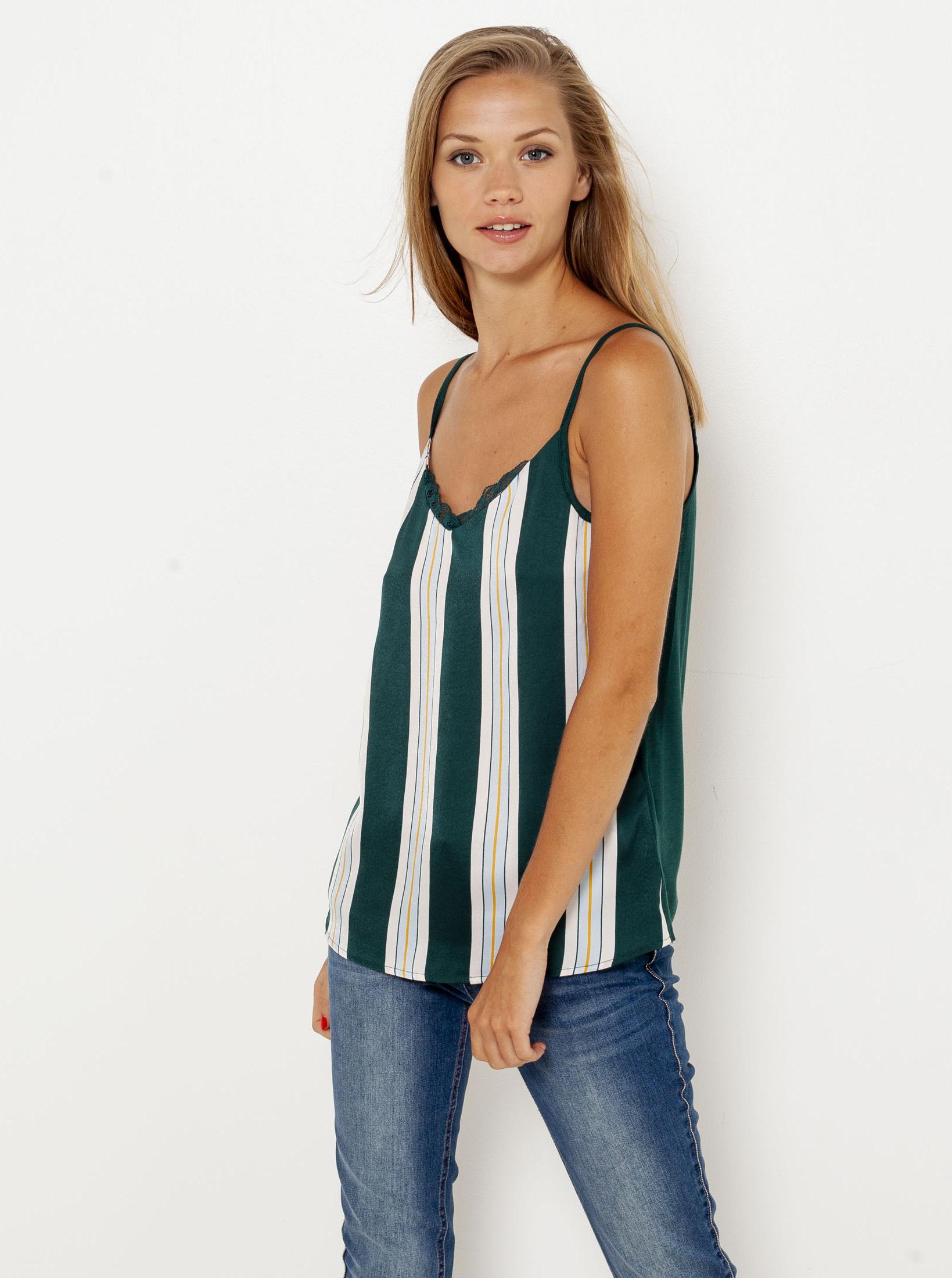CAMAIEU Дамска блуза зелено
