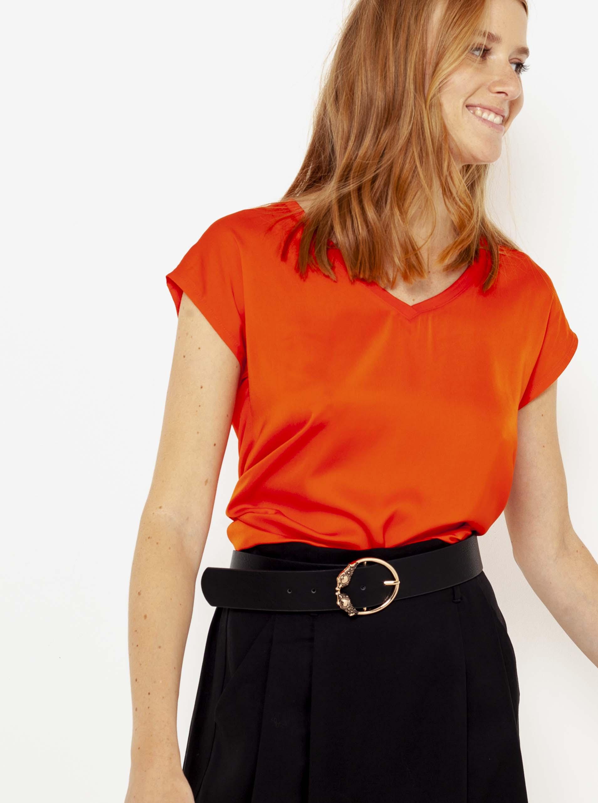 CAMAIEU червена женски риза