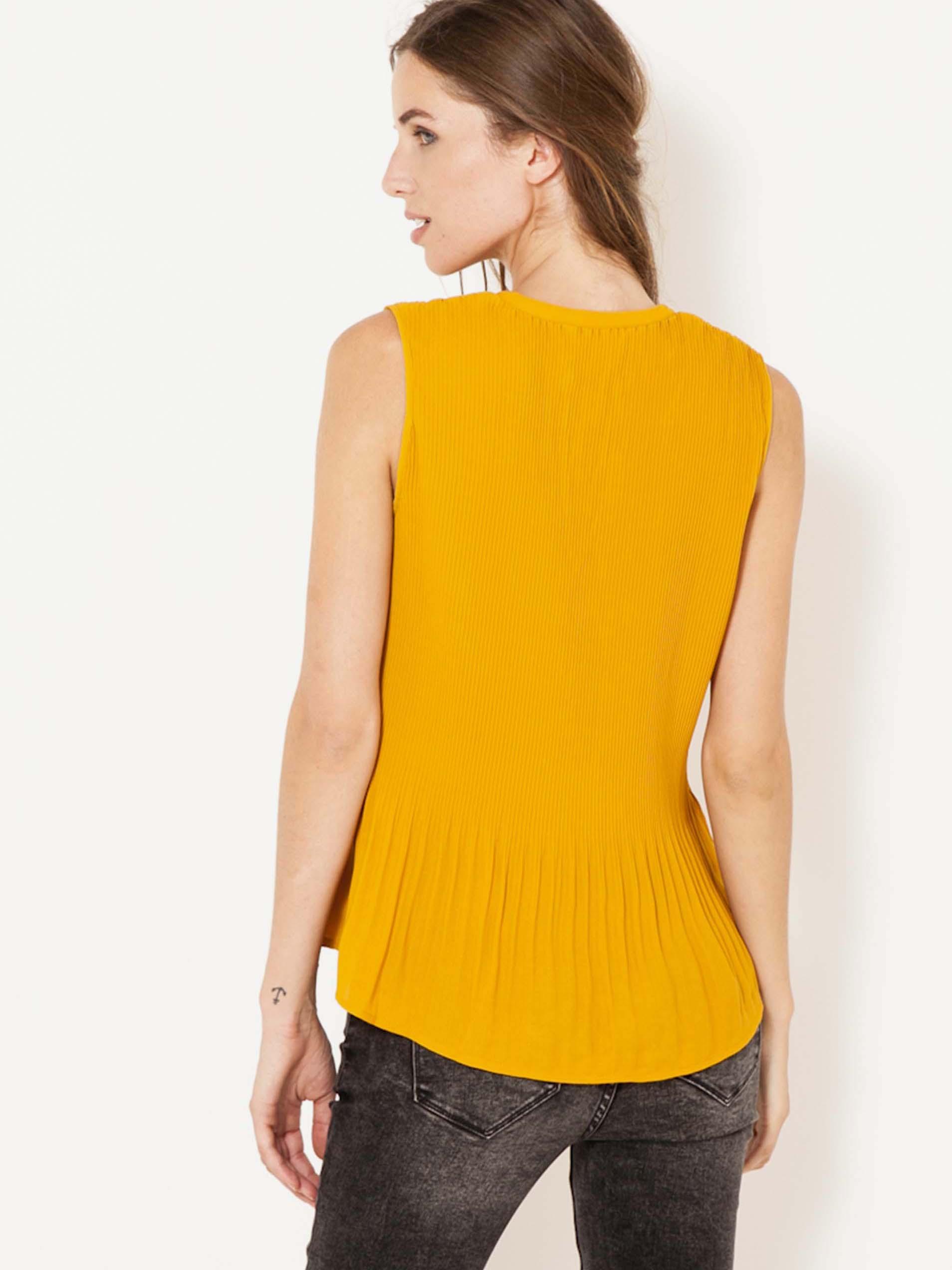 CAMAIEU Дамска блуза жълто