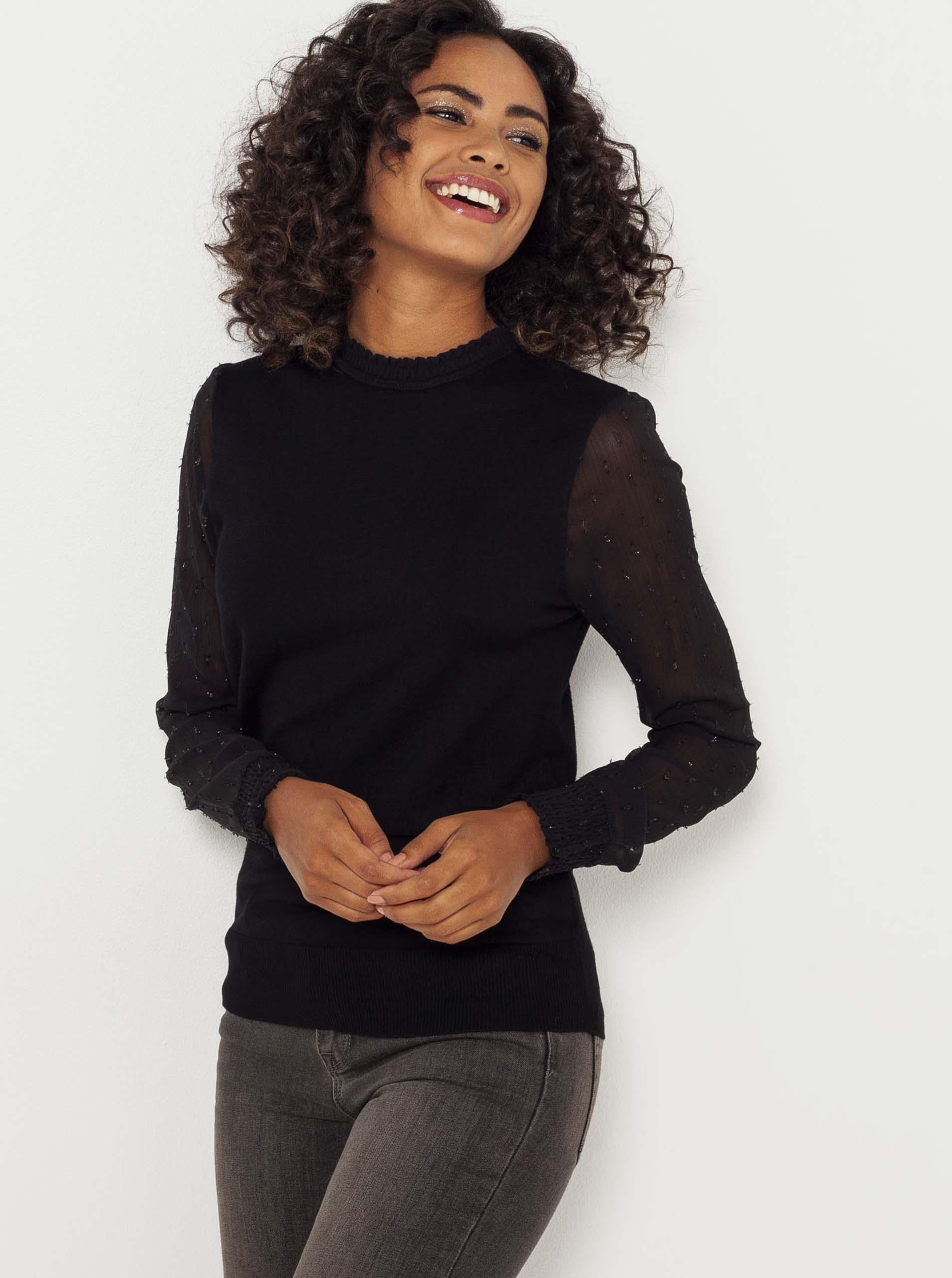 CAMAIEU черна блуза