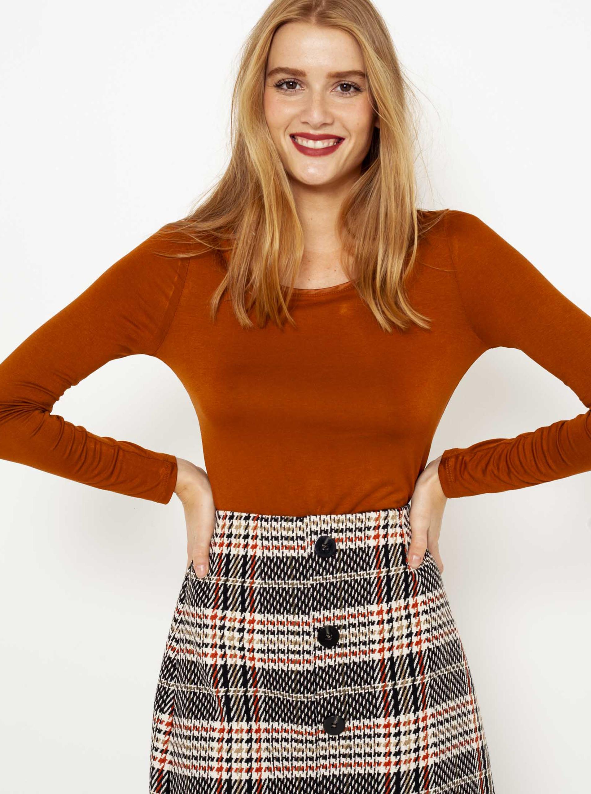 CAMAIEU Дамска тениска керемиден цвят