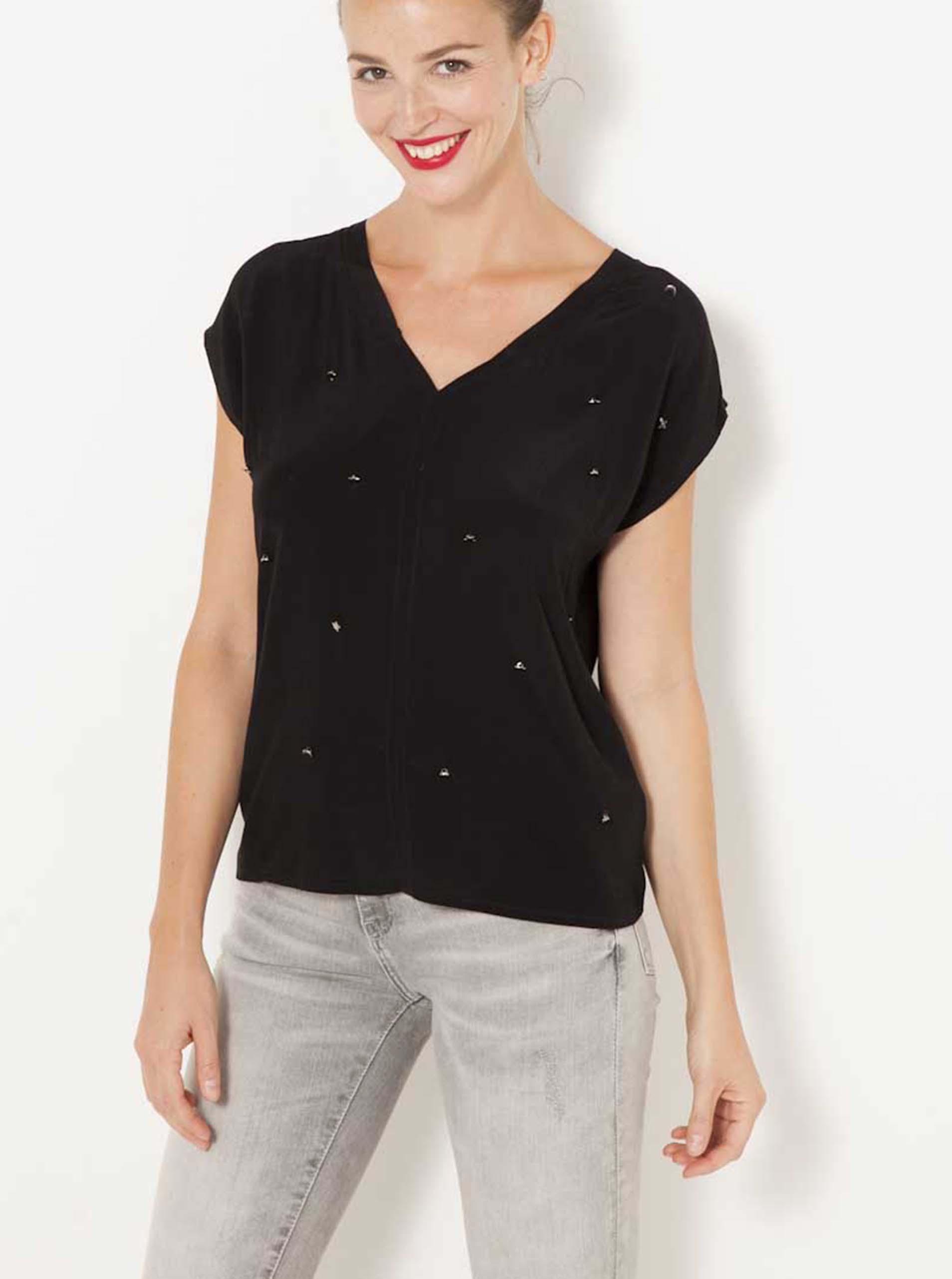 CAMAIEU Дамска тениска черно