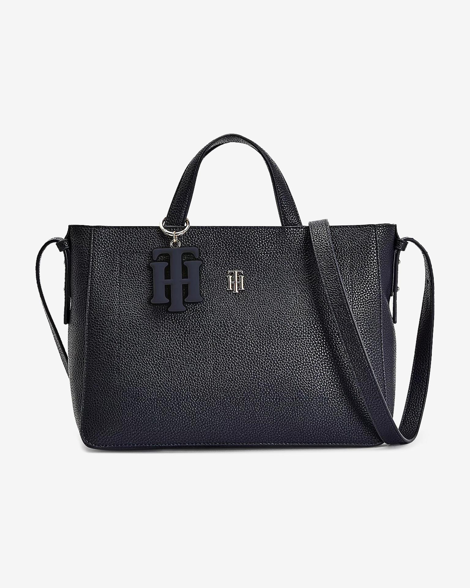 Tommy Hilfiger синя дамска чанта TH Soft