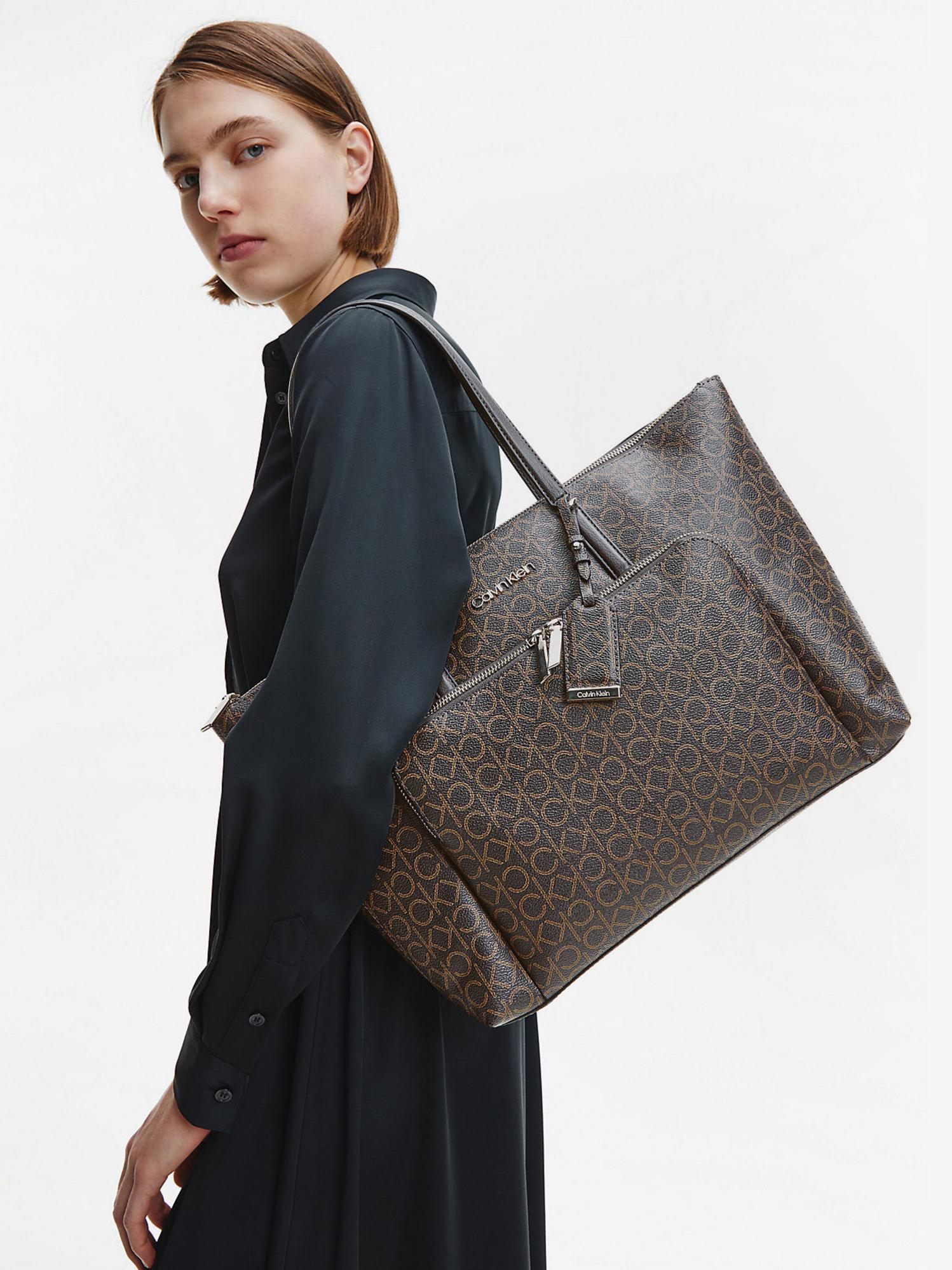 Calvin Klein кафява дамска чанта Must Shopper
