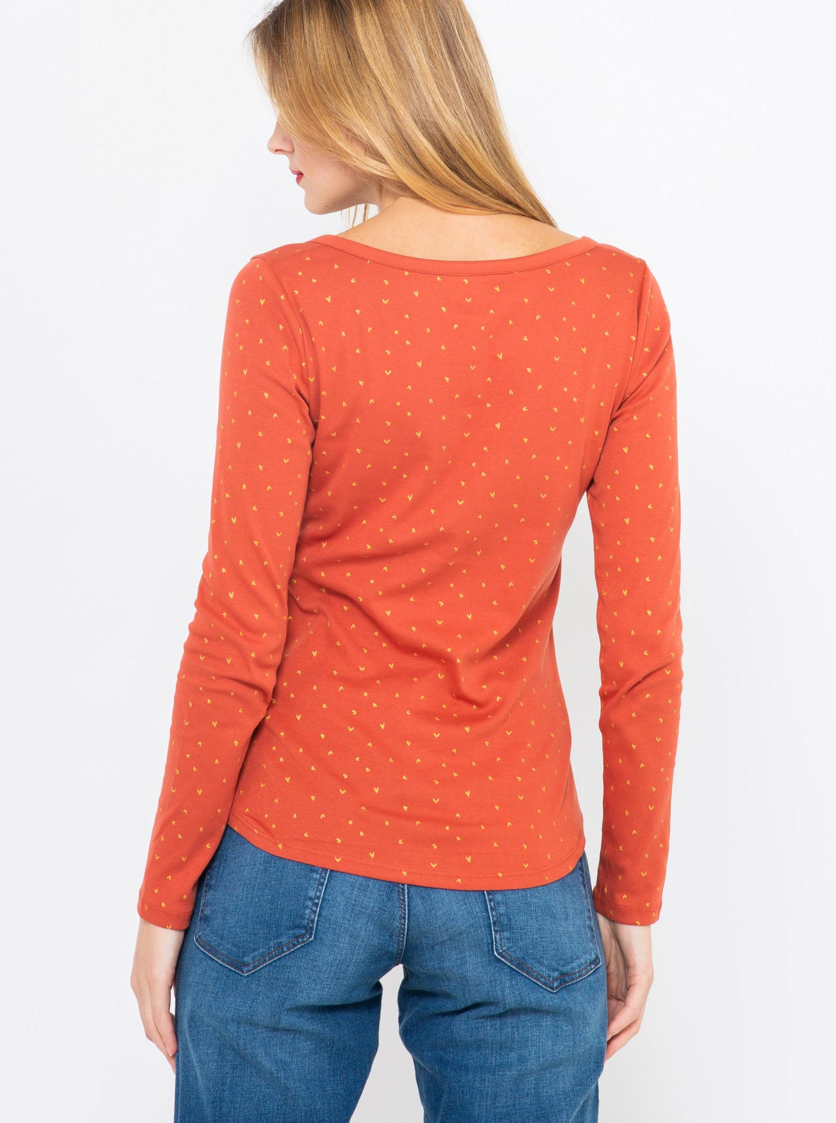 CAMAIEU Дамска тениска оранжево