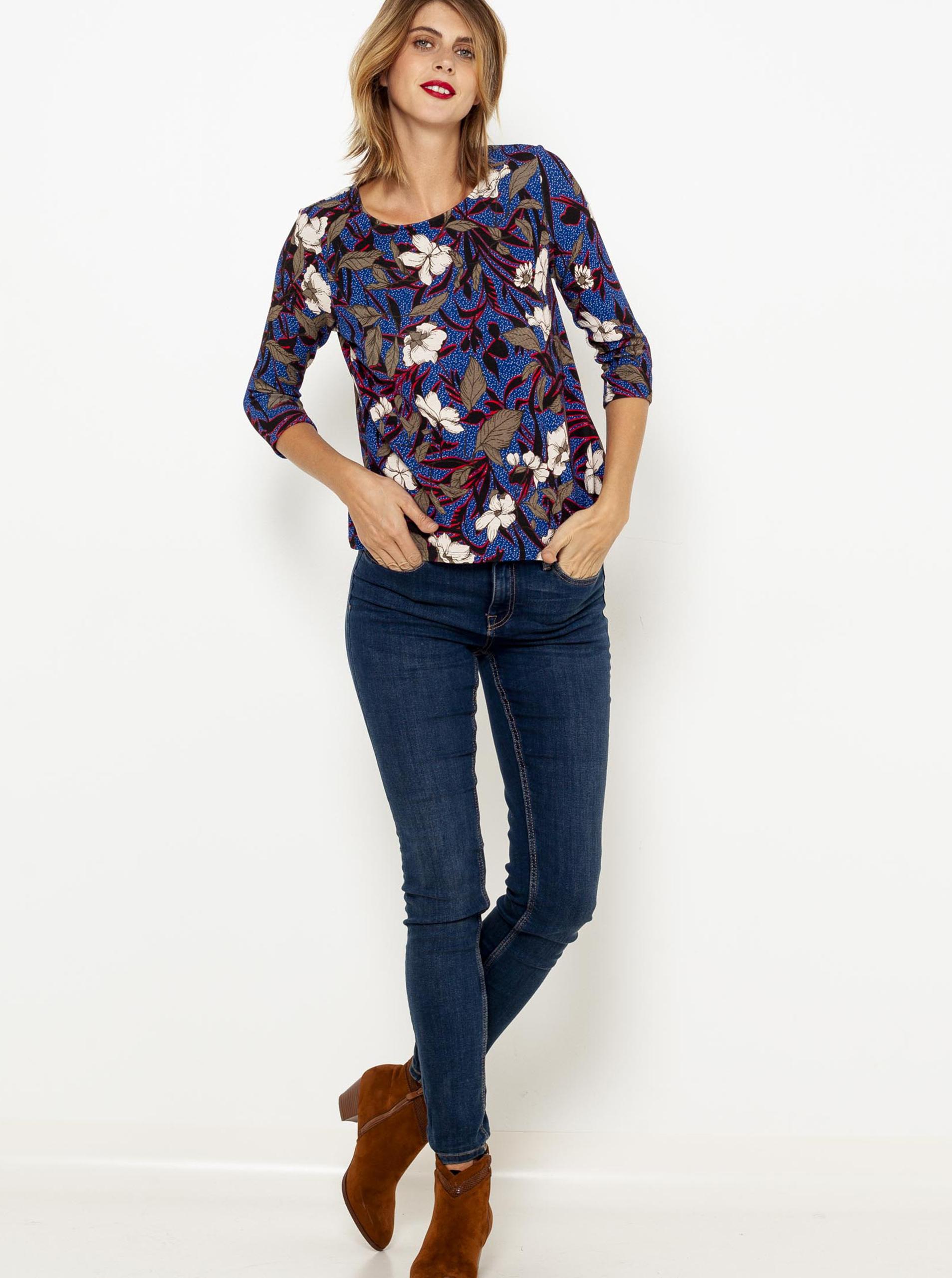 CAMAIEU Дамска тениска син цвят