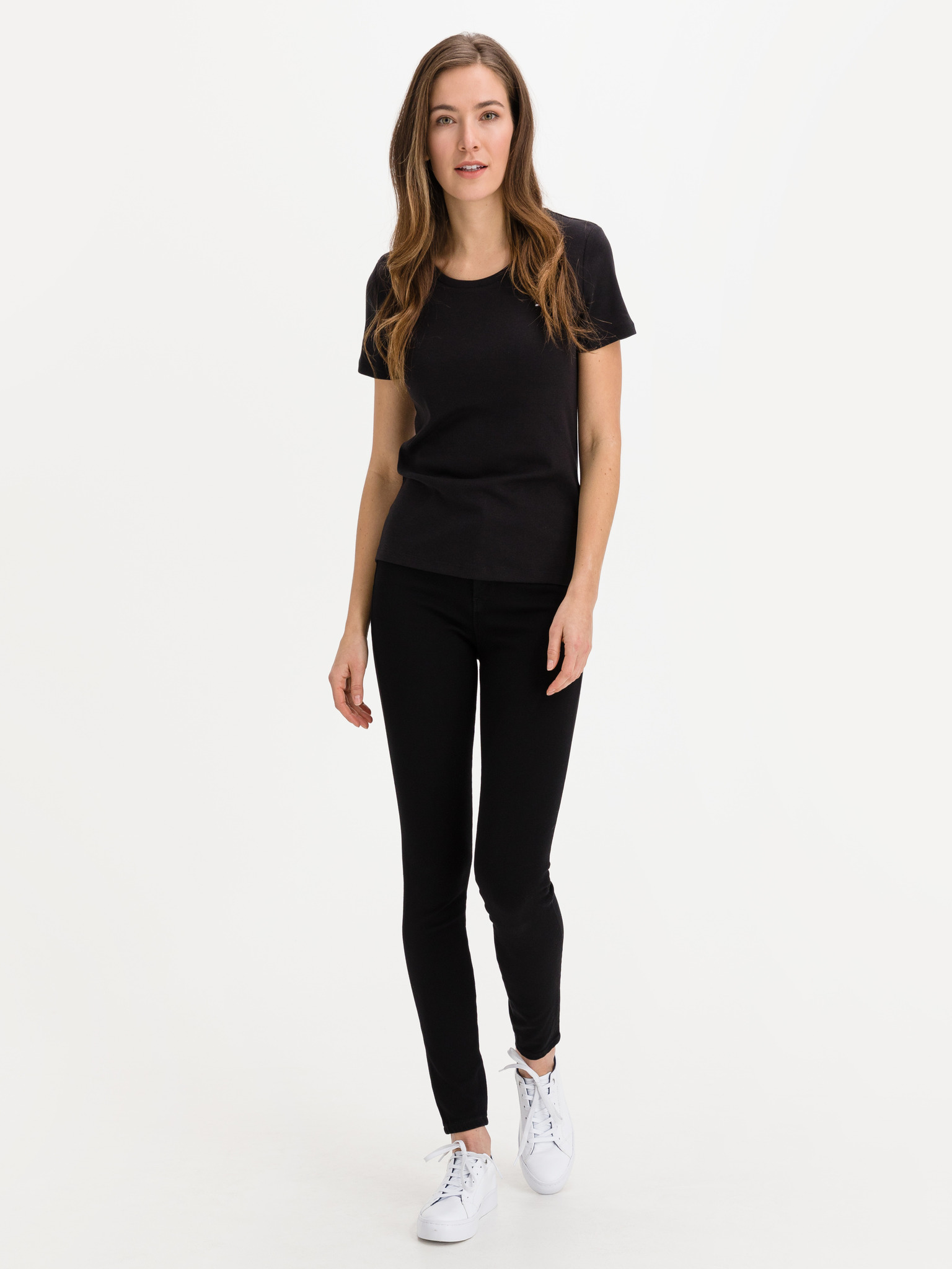 Tommy Hilfiger черна женски риза Slim Round