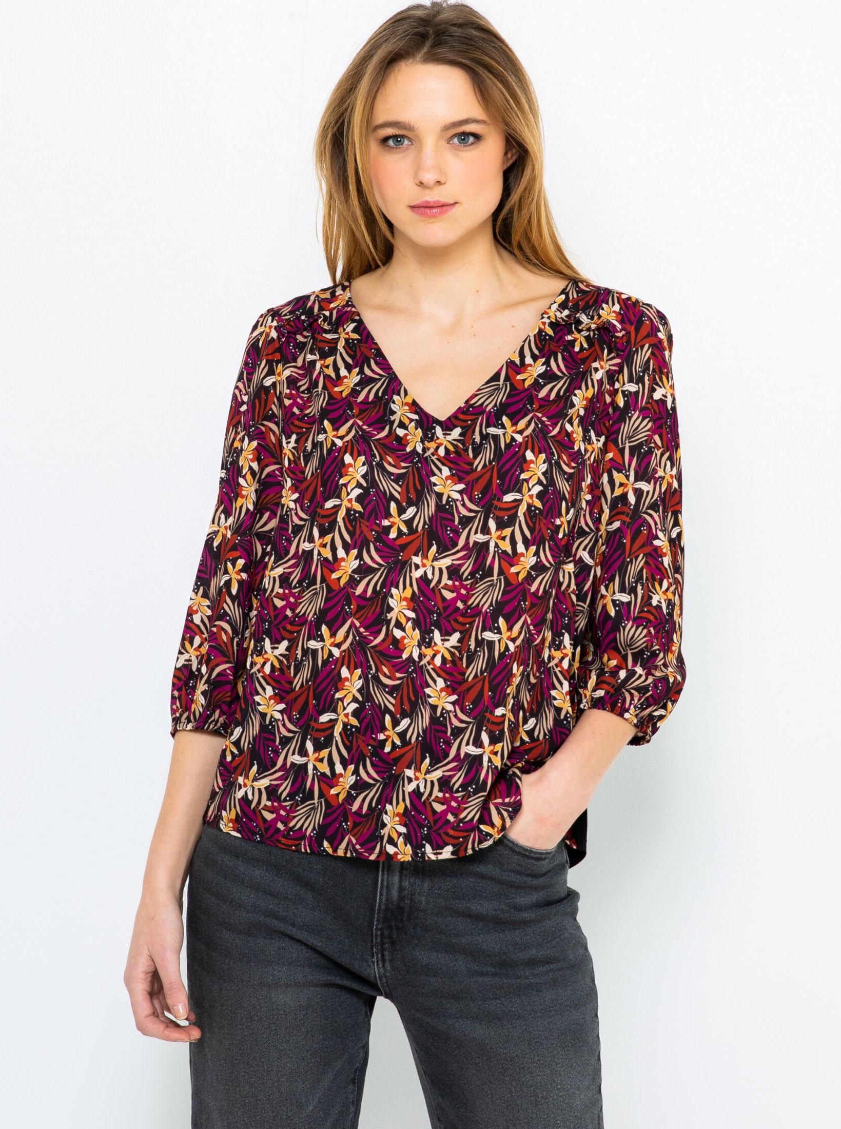 CAMAIEU Дамска блуза винен цвят