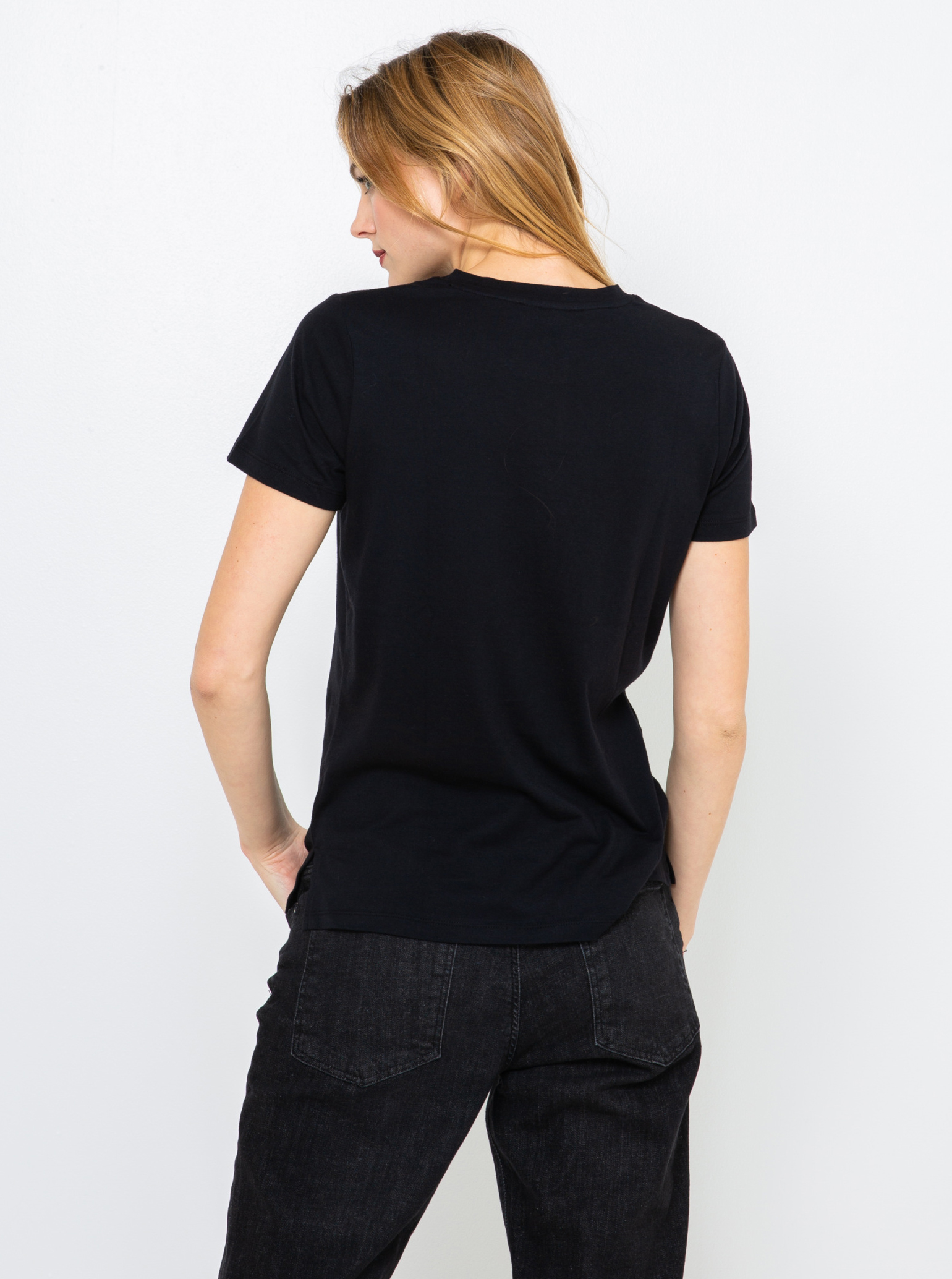 CAMAIEU черна женски риза с щампа