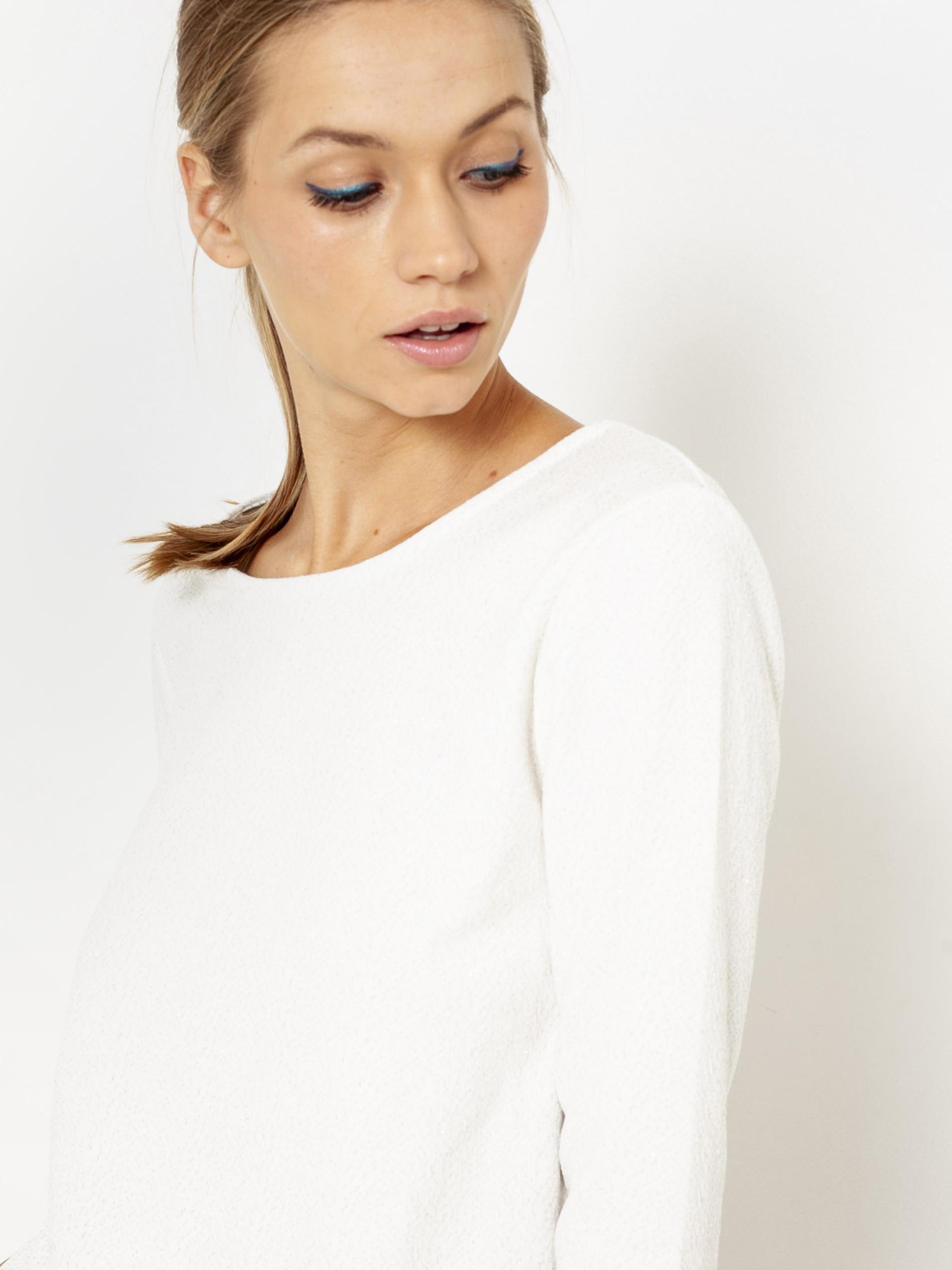 CAMAIEU Дамска тениска бял