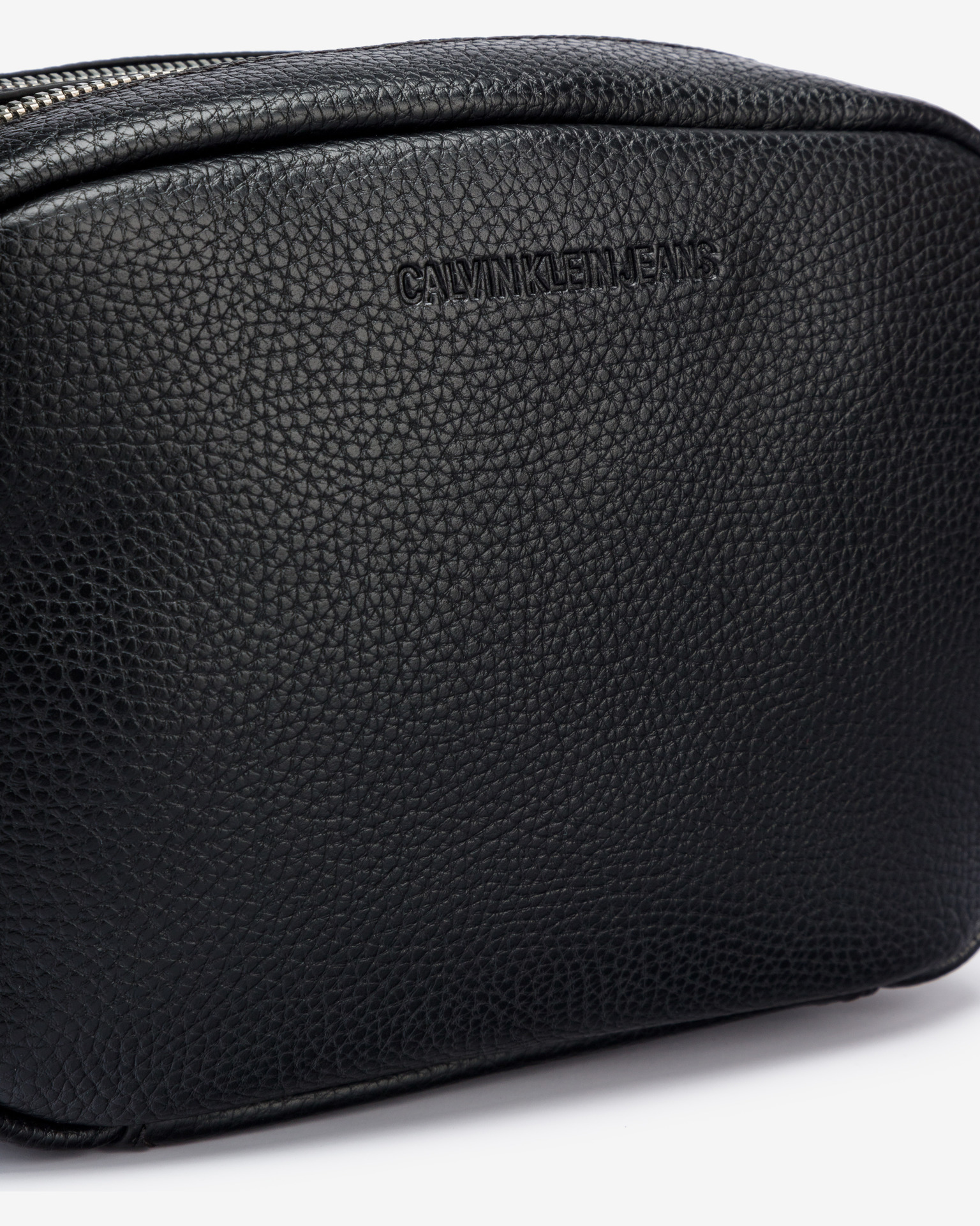 Calvin Klein черна crossbody чанта Double Zip Camera