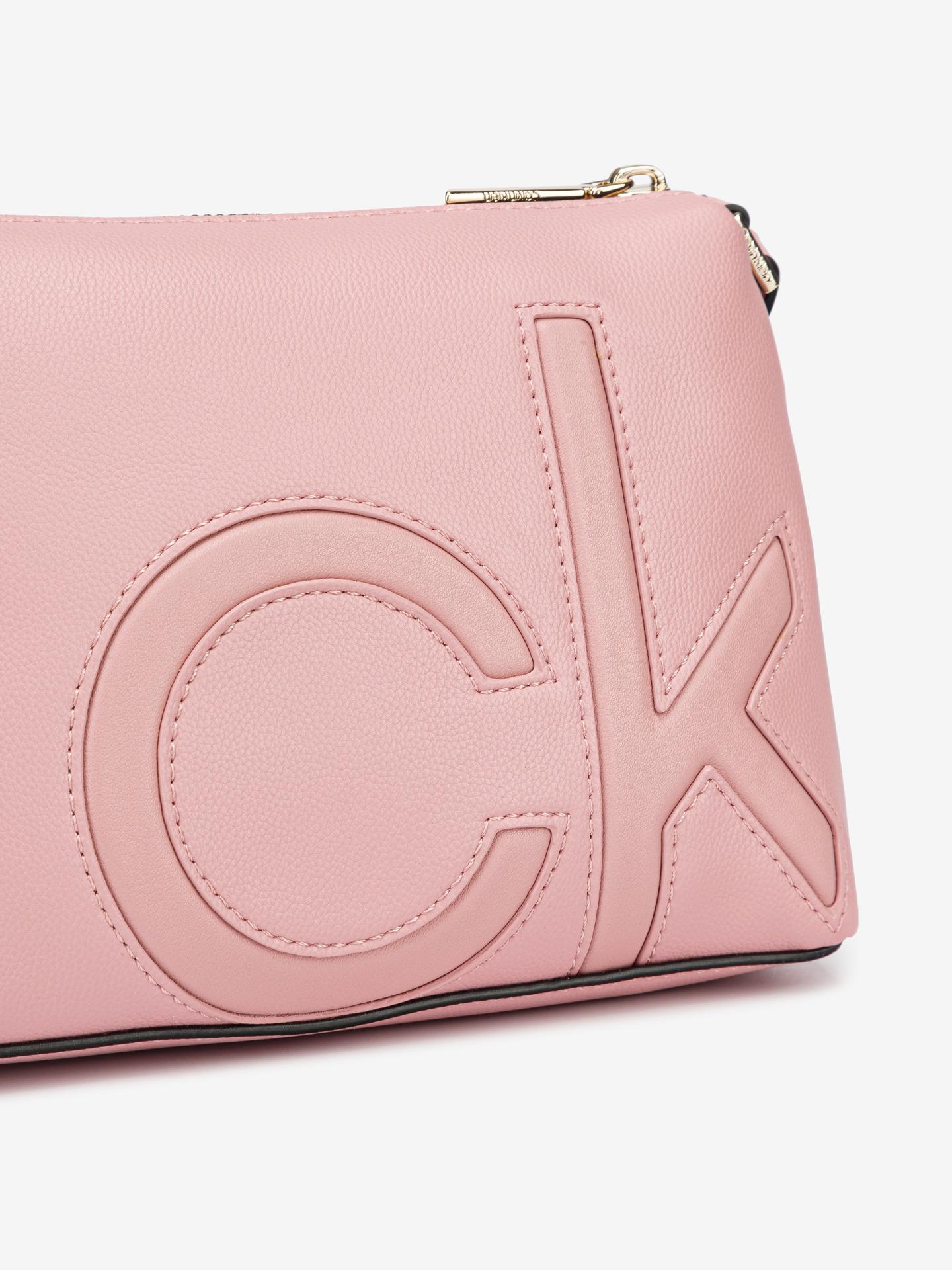 Calvin Klein розова crossbody чанта