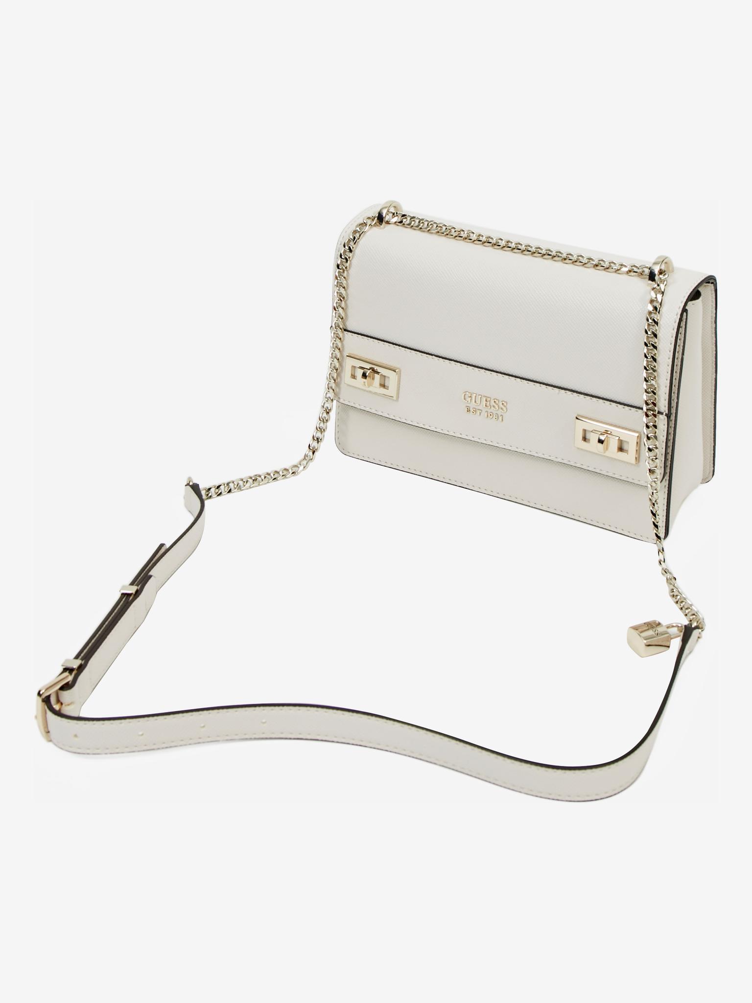 Guess бяла crossbody дамска чанта Katey