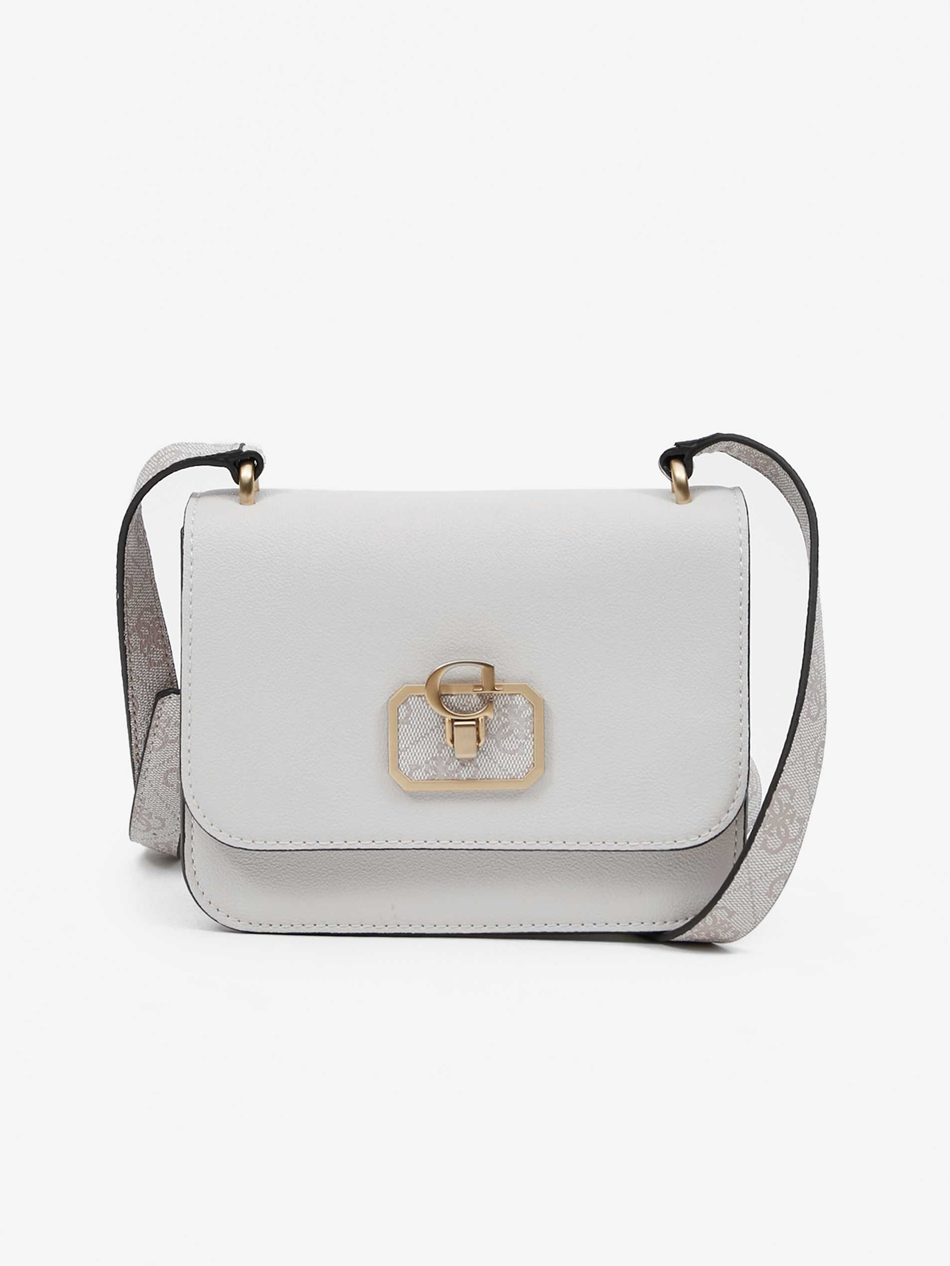 Guess бяла crossbody дамска чанта Noelle Mini