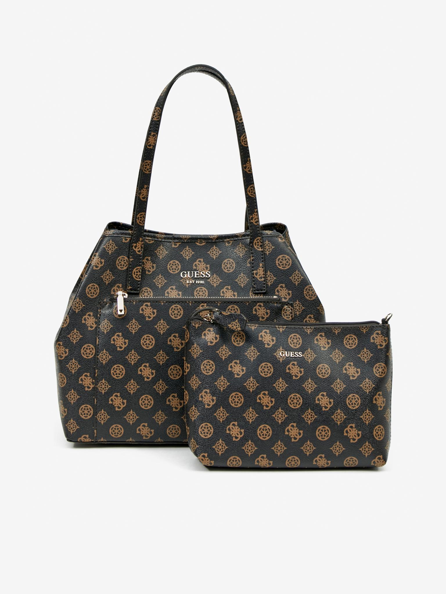 Guess кафява дамска чанта Vikky Roo
