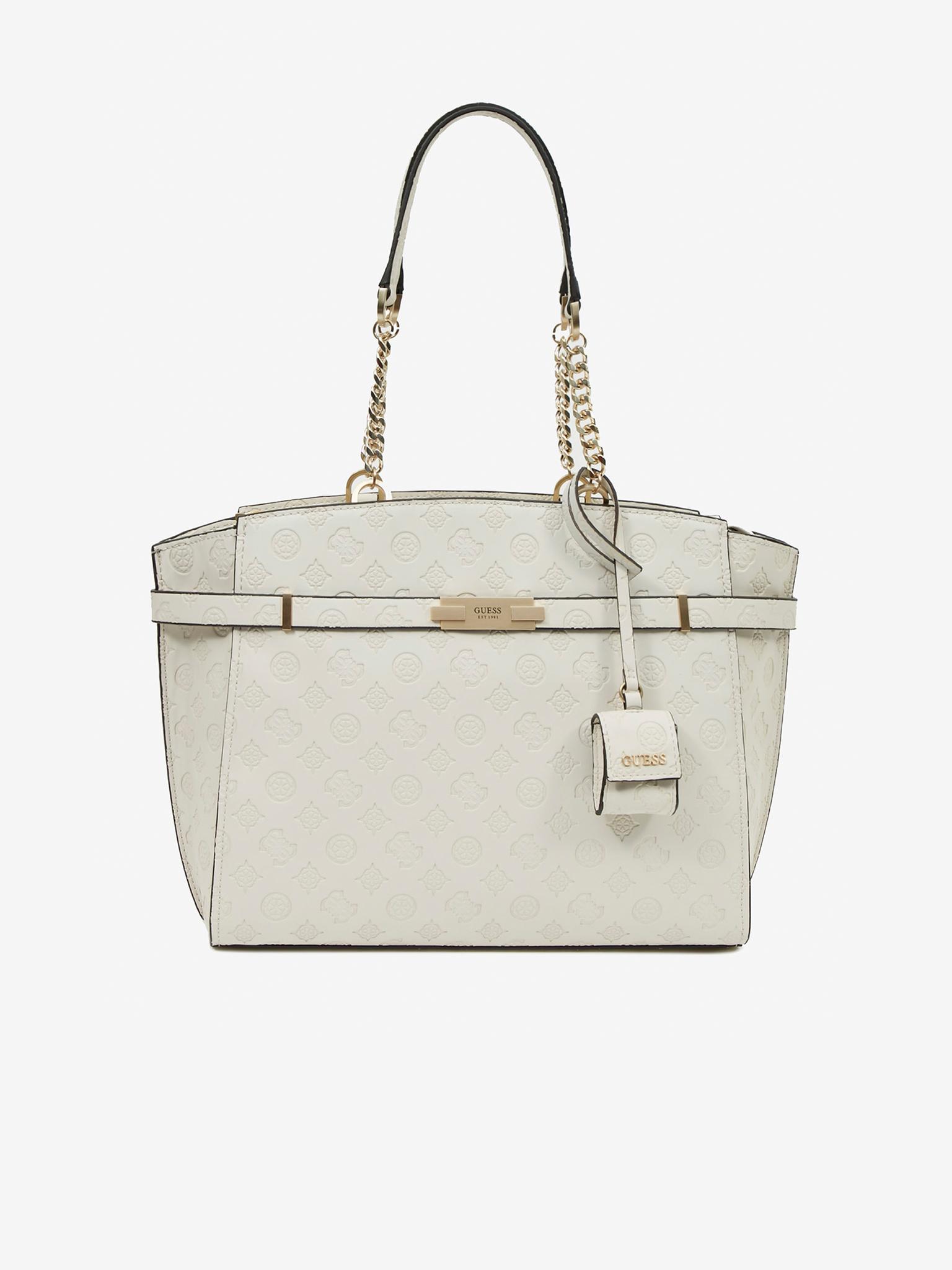 Guess бяла дамска чанта Bea Elite