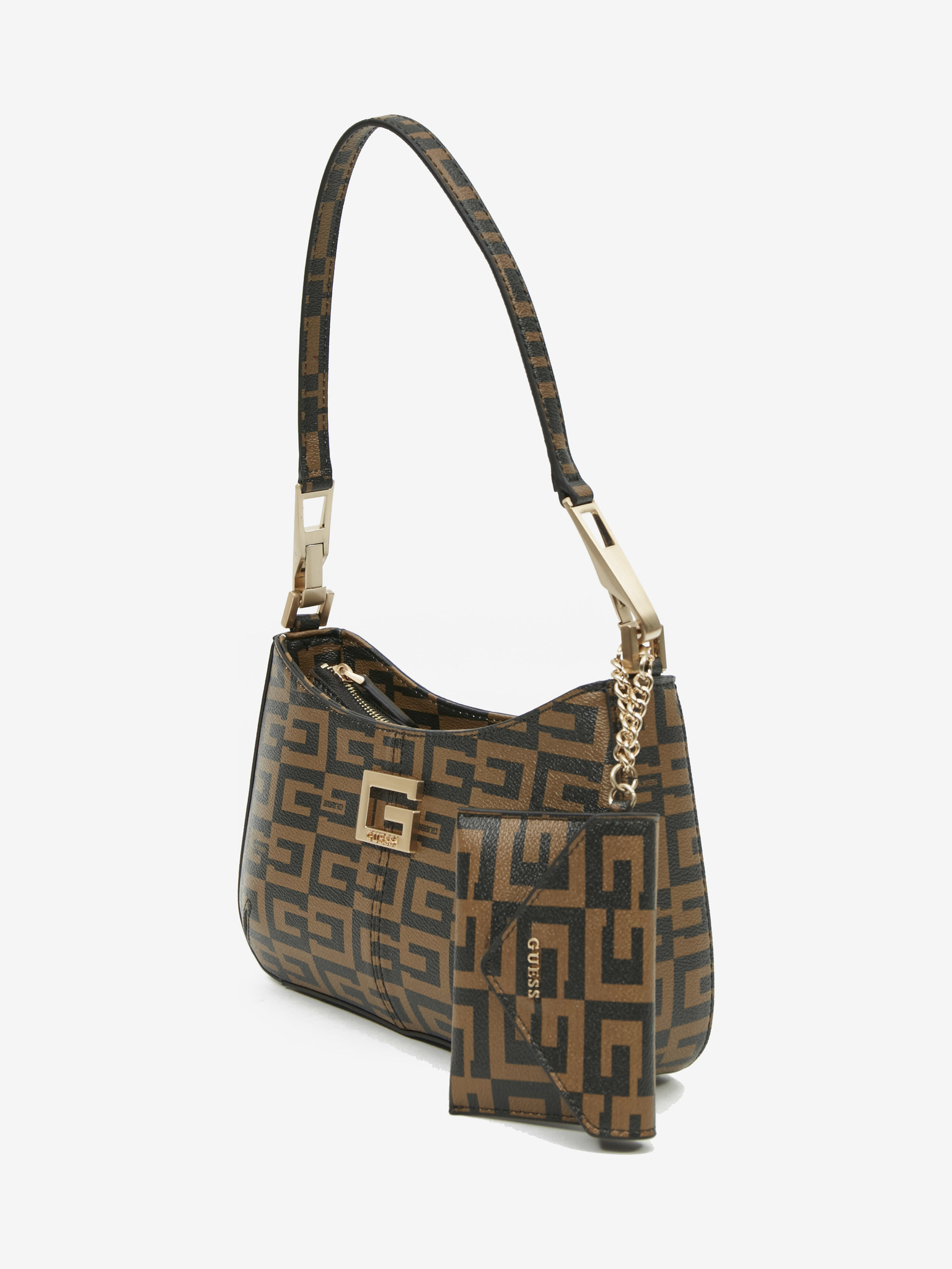 Guess кафява дамска чанта 40th Anniversary