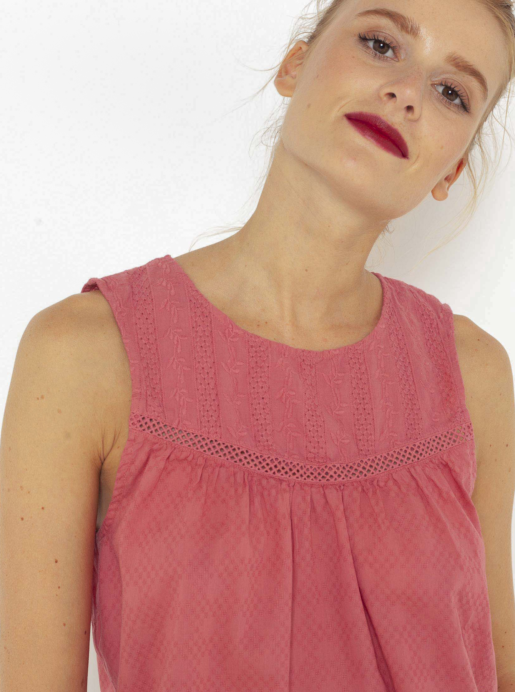 CAMAIEU Дамска блуза розово