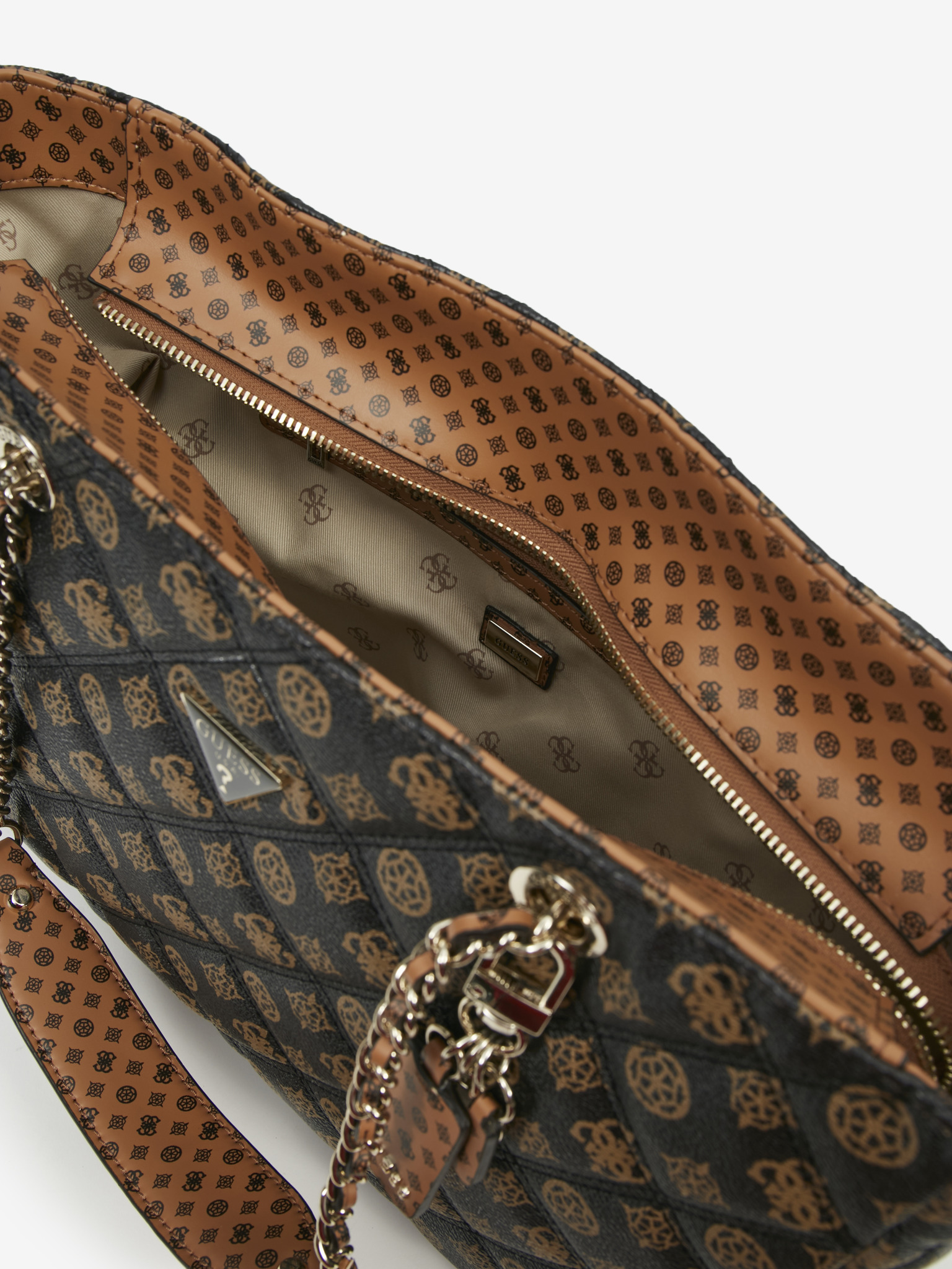 Guess кафява дамска чанта Cessily
