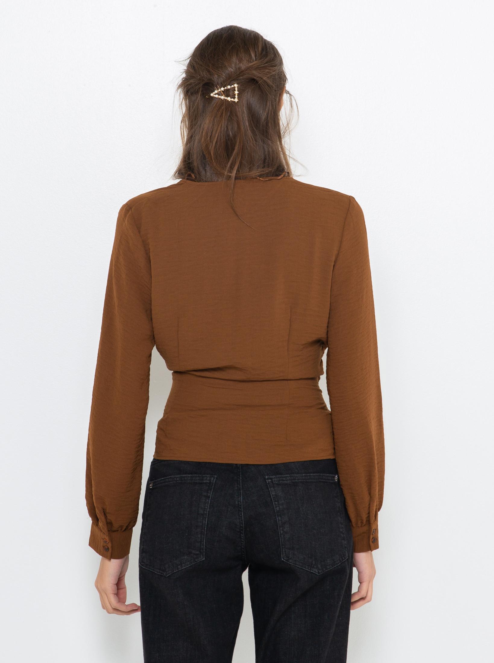 CAMAIEU кафява блуза