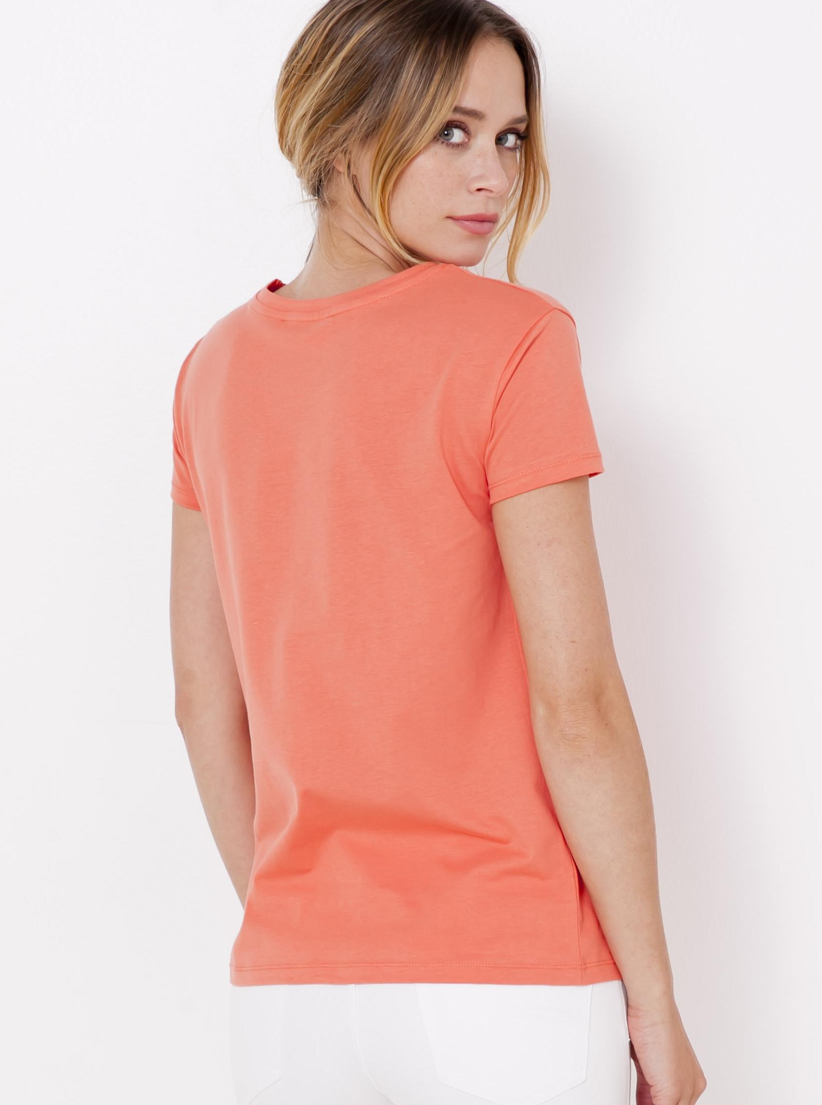CAMAIEU Дамска тениска кайсиев цвят