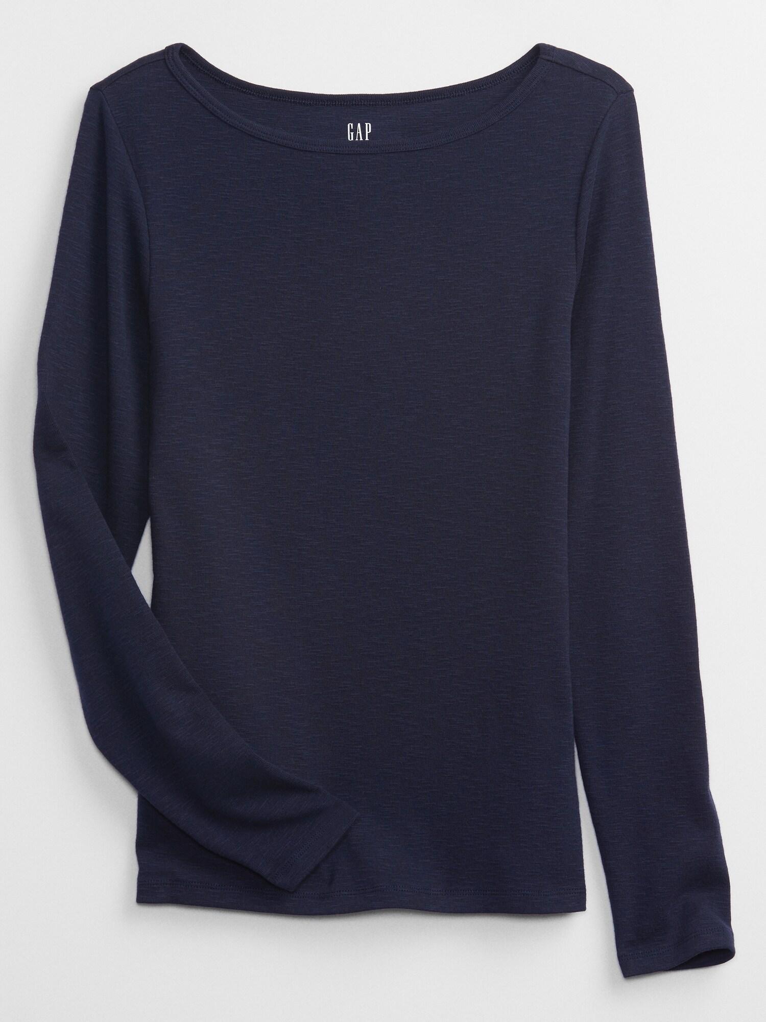 GAP Дамски тениски и потници син цвят Basic
