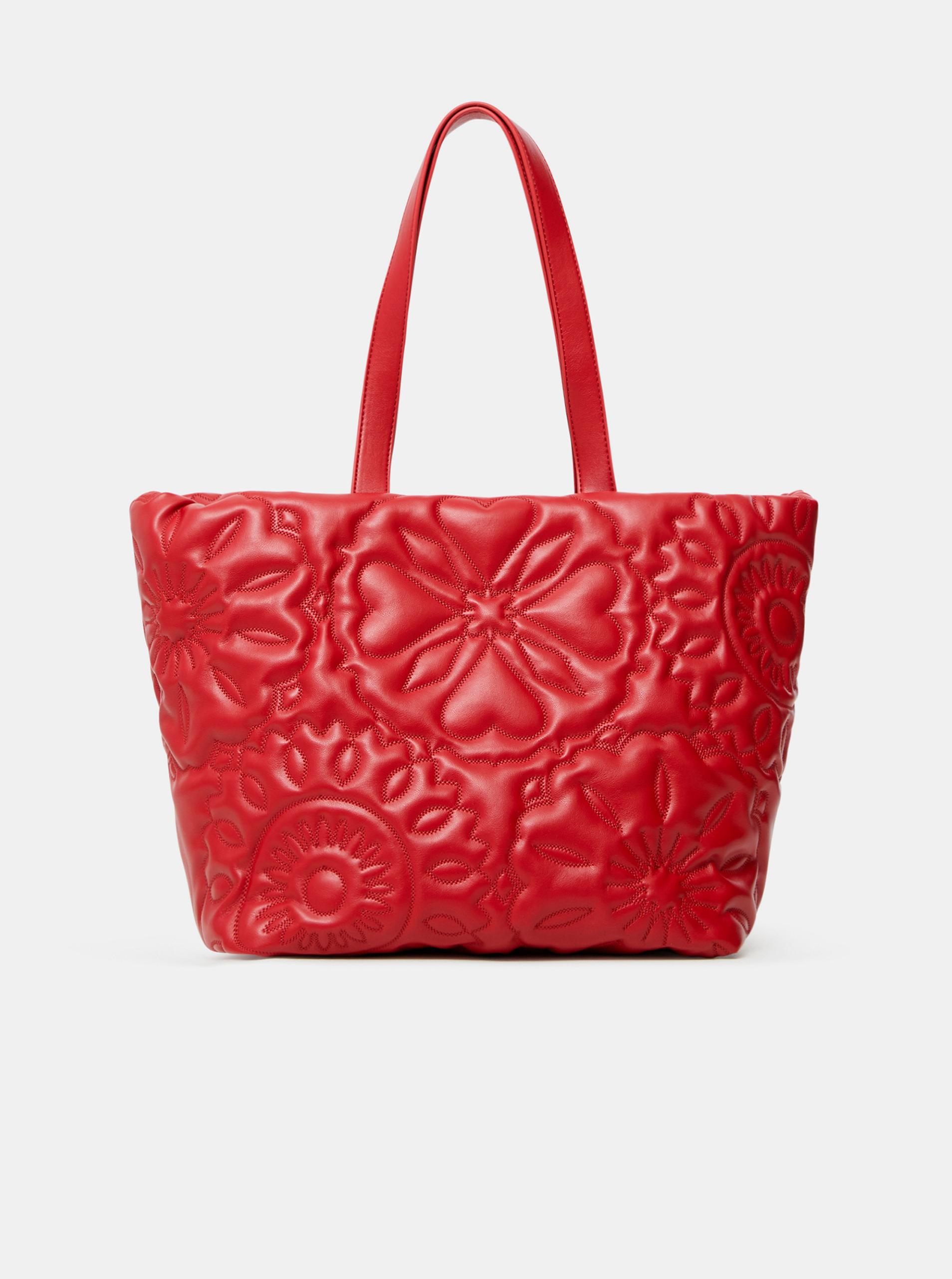 Desigual червена дамска чанта Big Big Bombay