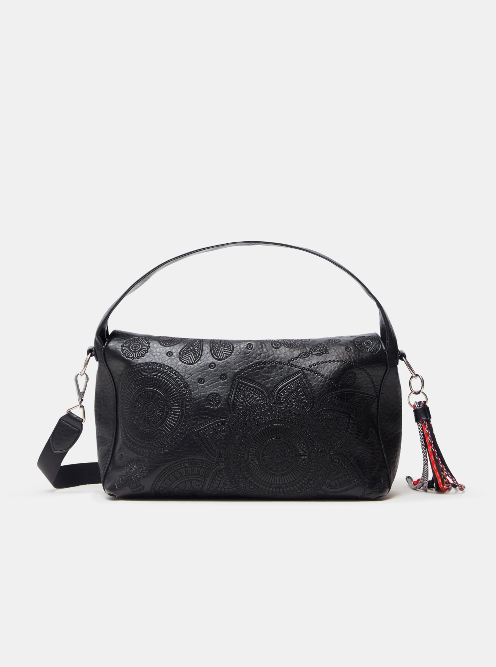 Черна дамска шарена чанта Desigual Deja Vu Narbonne Flap