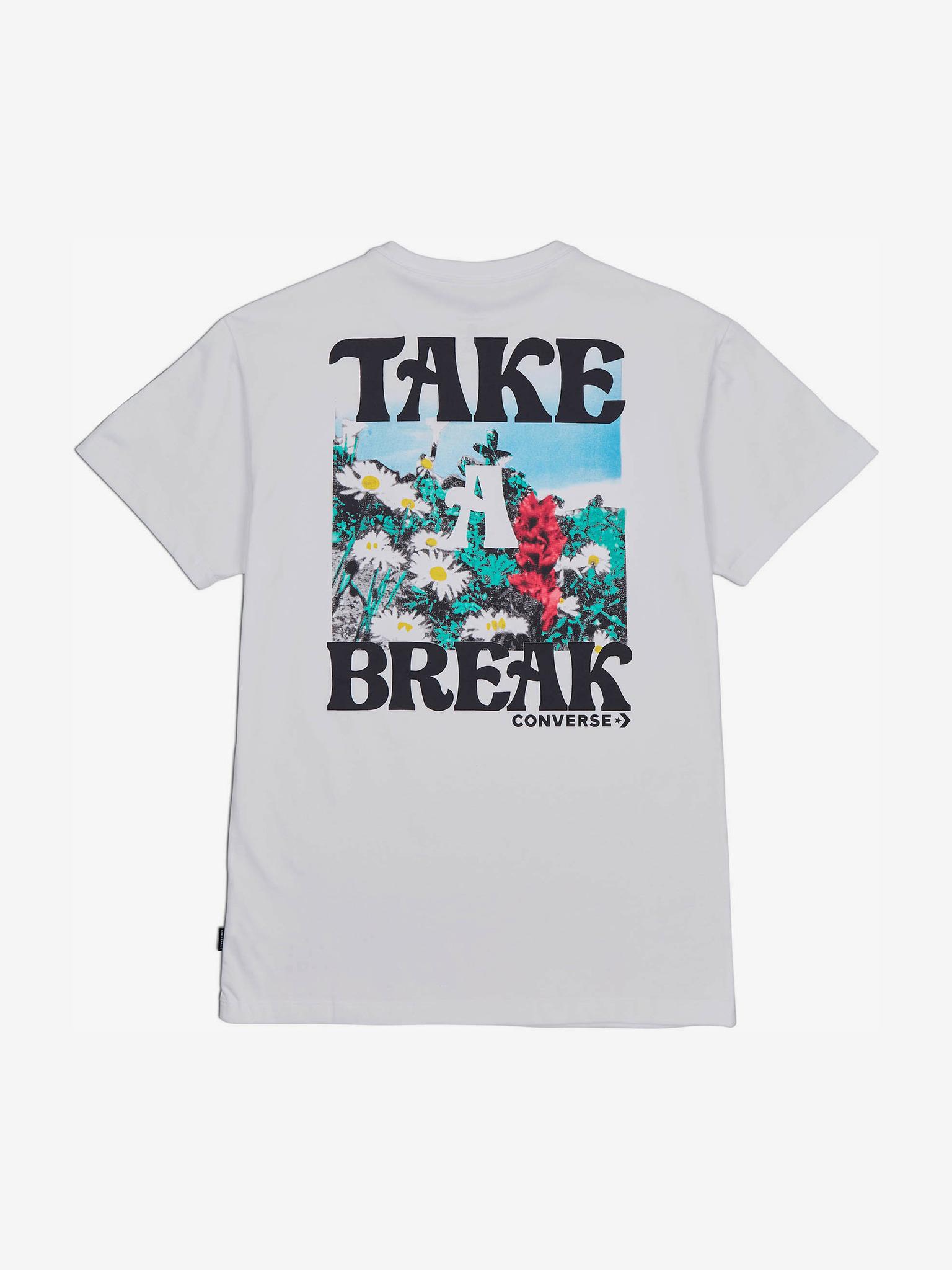 Converse Дамска тениска бял  The