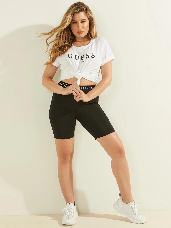 Guess Дамска тениска бял