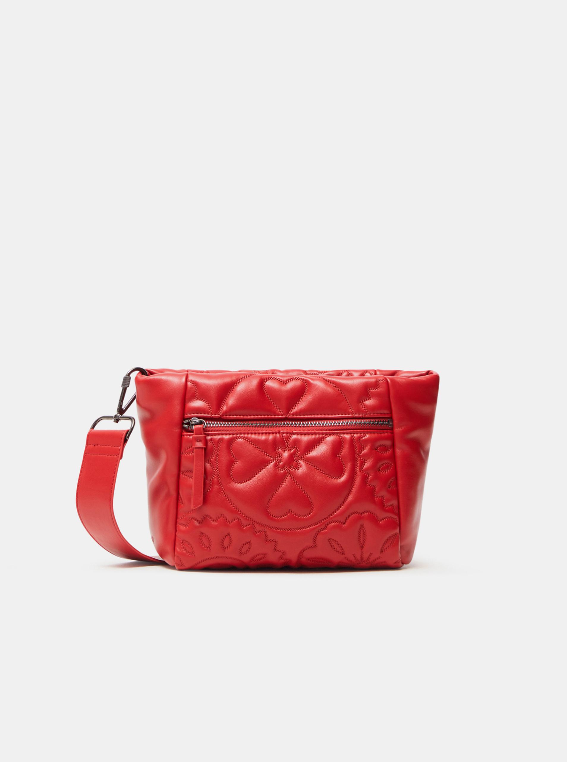 Червена дамска ватирана чанта през рамо Desigual Big Big Amber