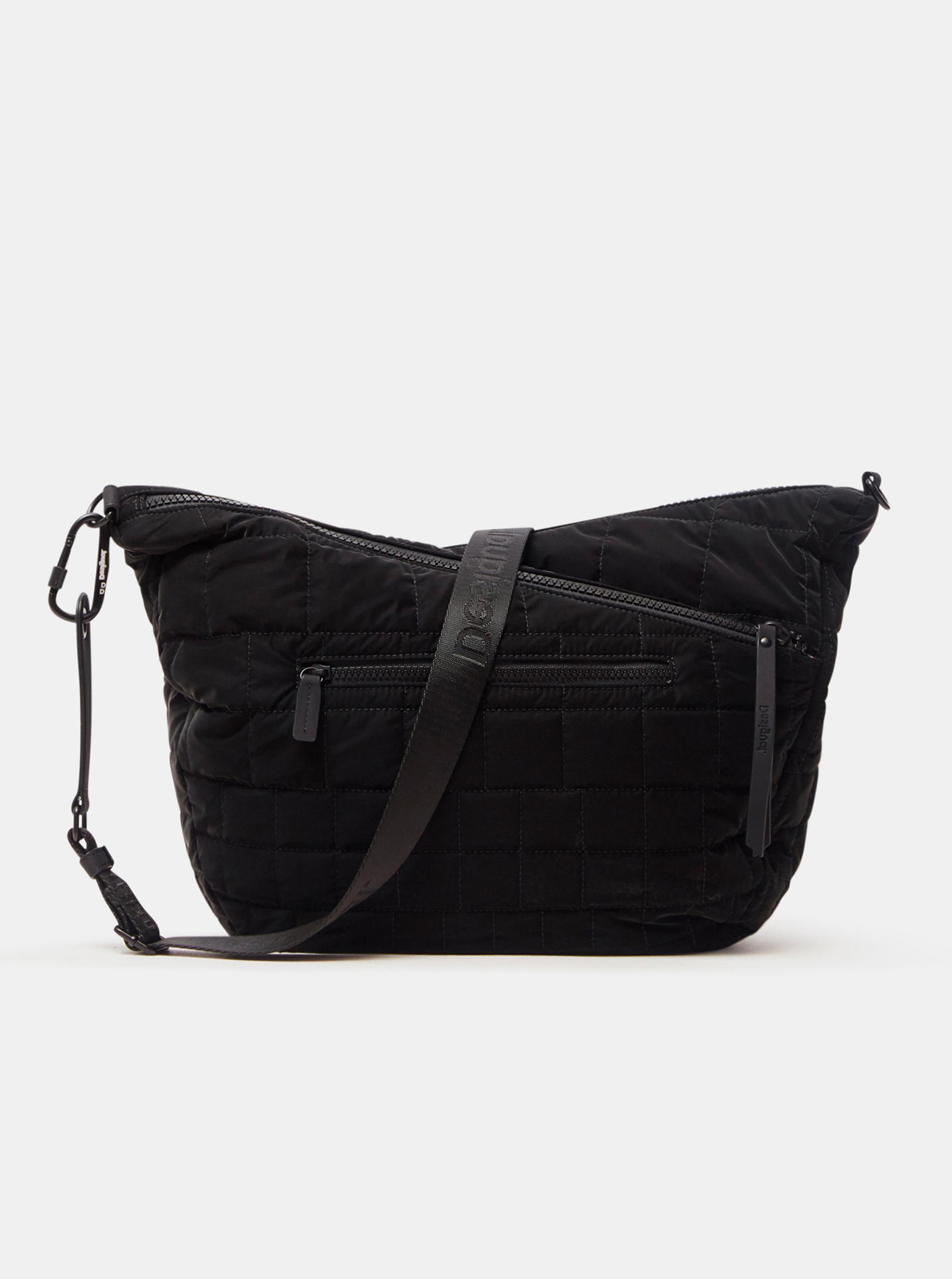 Черна дамска ватирана чанта през рамо Desigual Cocoa Harry 2.0 Maxy