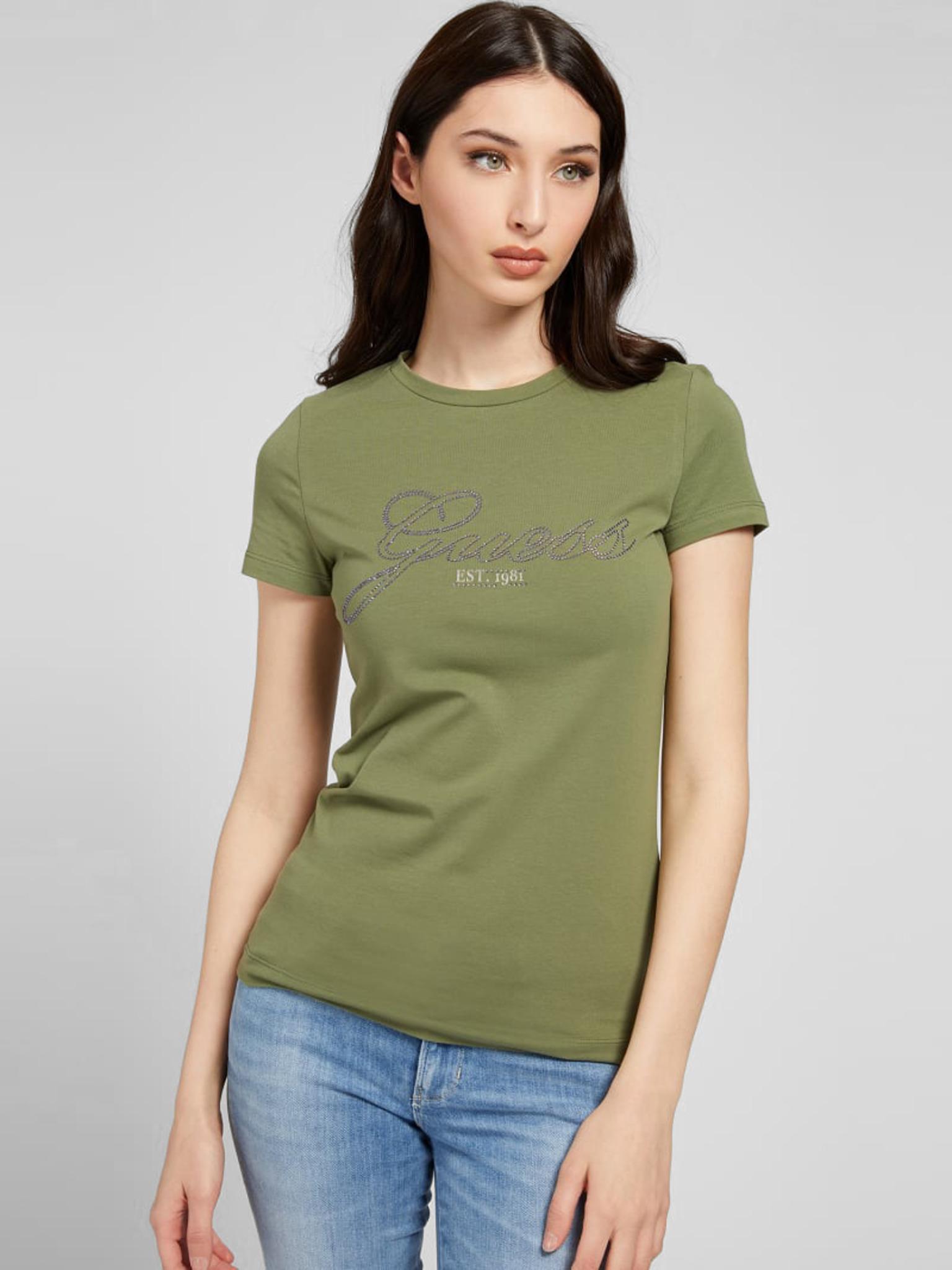 Guess Дамска тениска зелено Triko