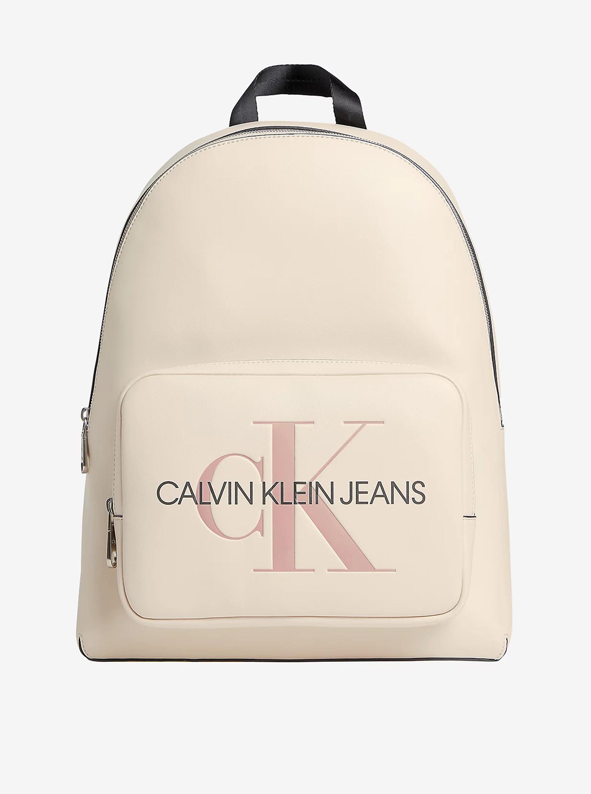 Calvin Klein сметанова / кремова раница