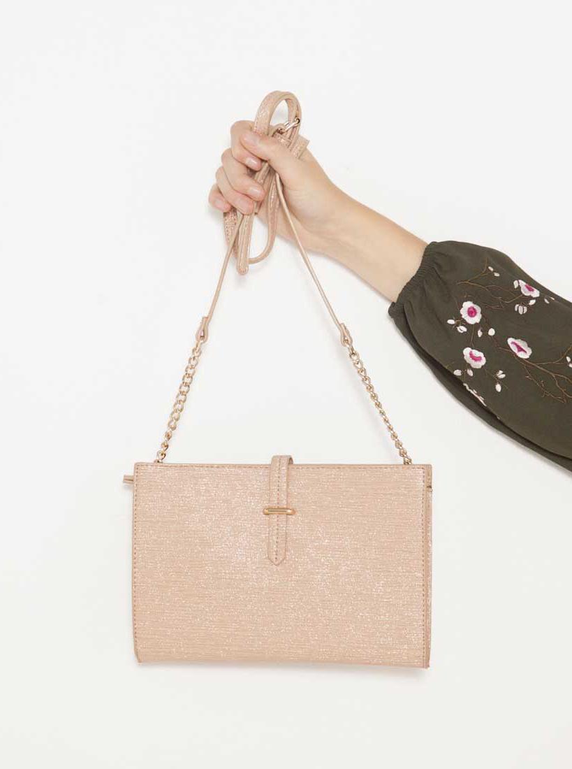 Светло розова дамска чанта на кръста CAMAIEU