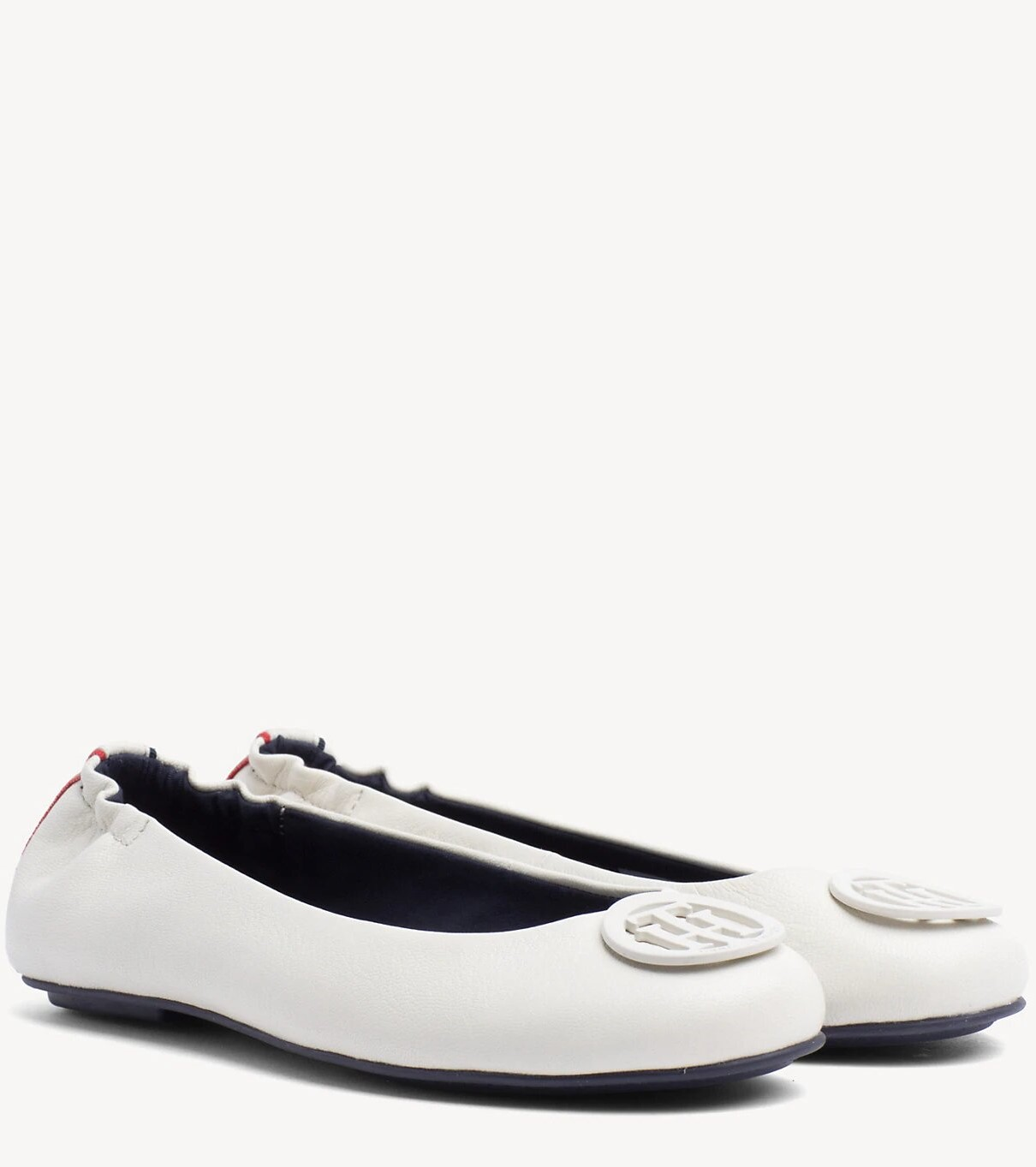 Tommy Hilfiger сметанови / кремови кожени балерини Flexible Leather Ballerina Whisper White