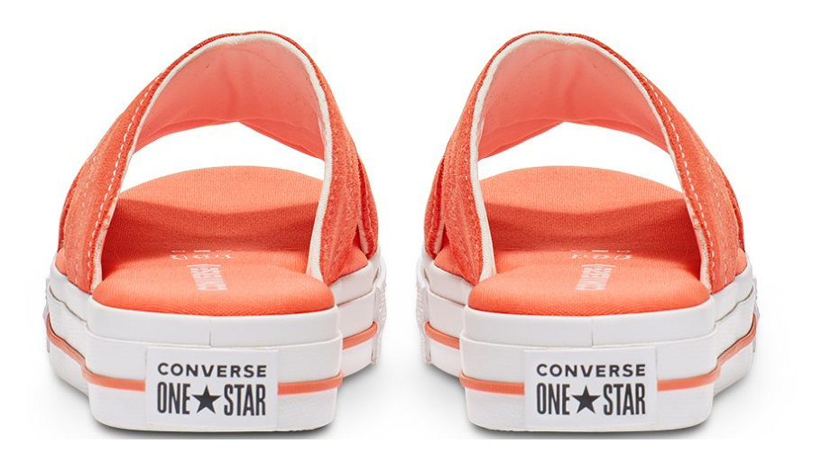 Converse оранжеви кожа чехли One Star Sandal Slip Turf Orange