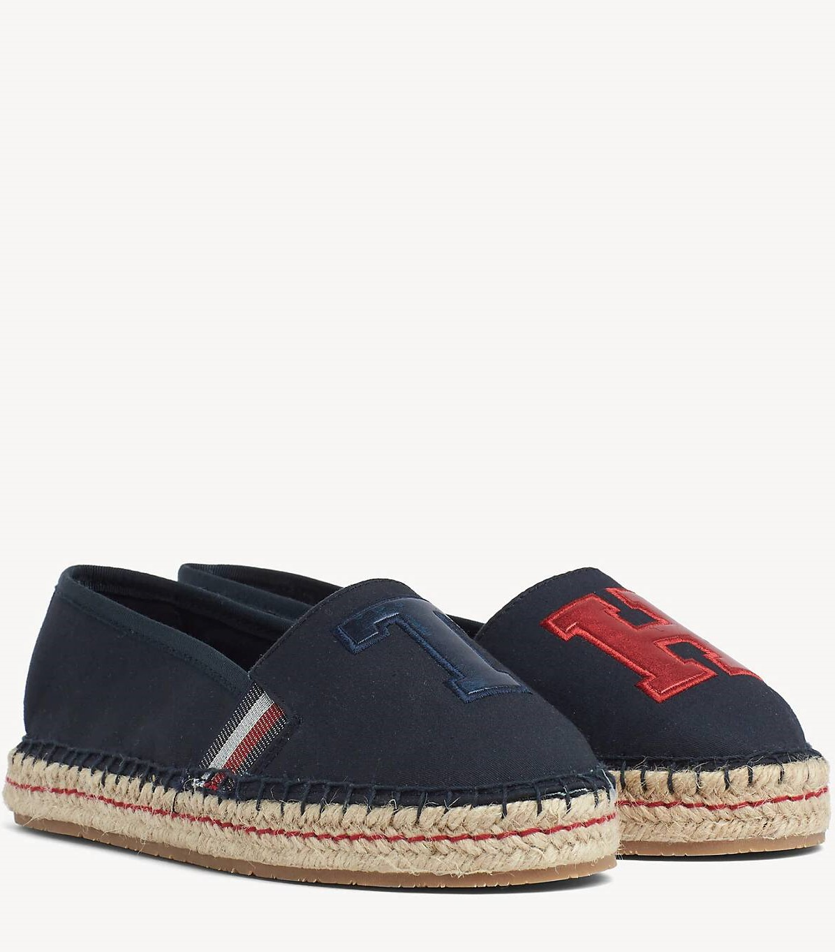 Tommy Hilfiger сини еспадрили TH Patch Espadrille Midnight