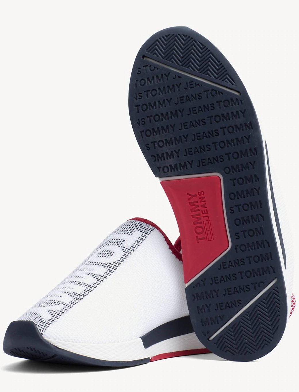 Tommy Hilfiger бели кецове WMN Technical Mesh Flexi Sneaker RWB