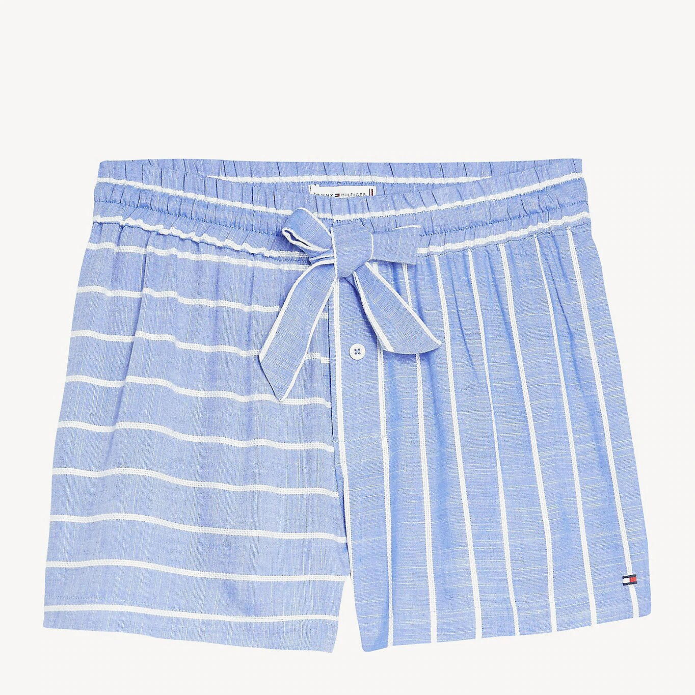 Tommy Hilfiger сини шорти Short Stripe Gray Dawn